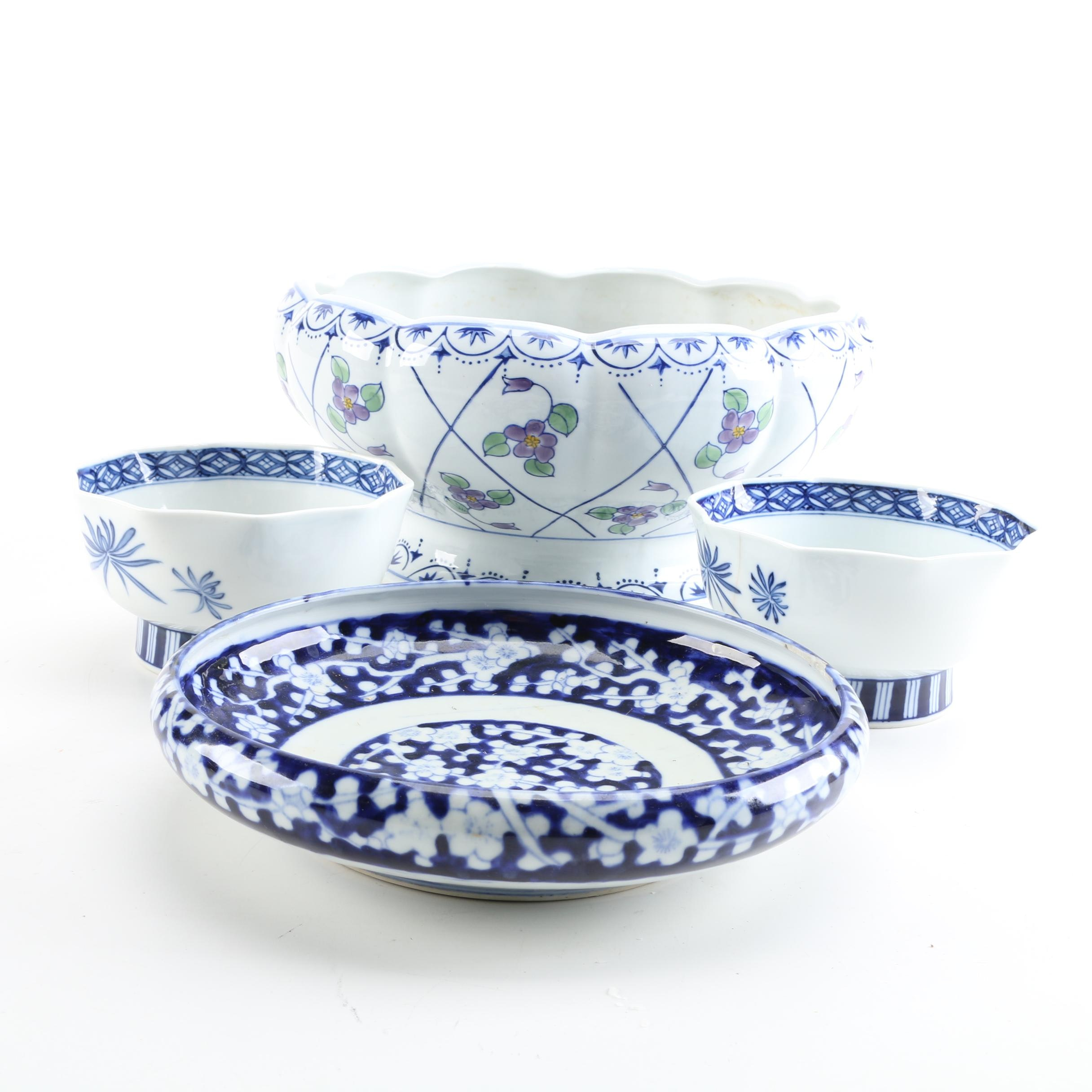 East Asian Blue and White Imported Tableware