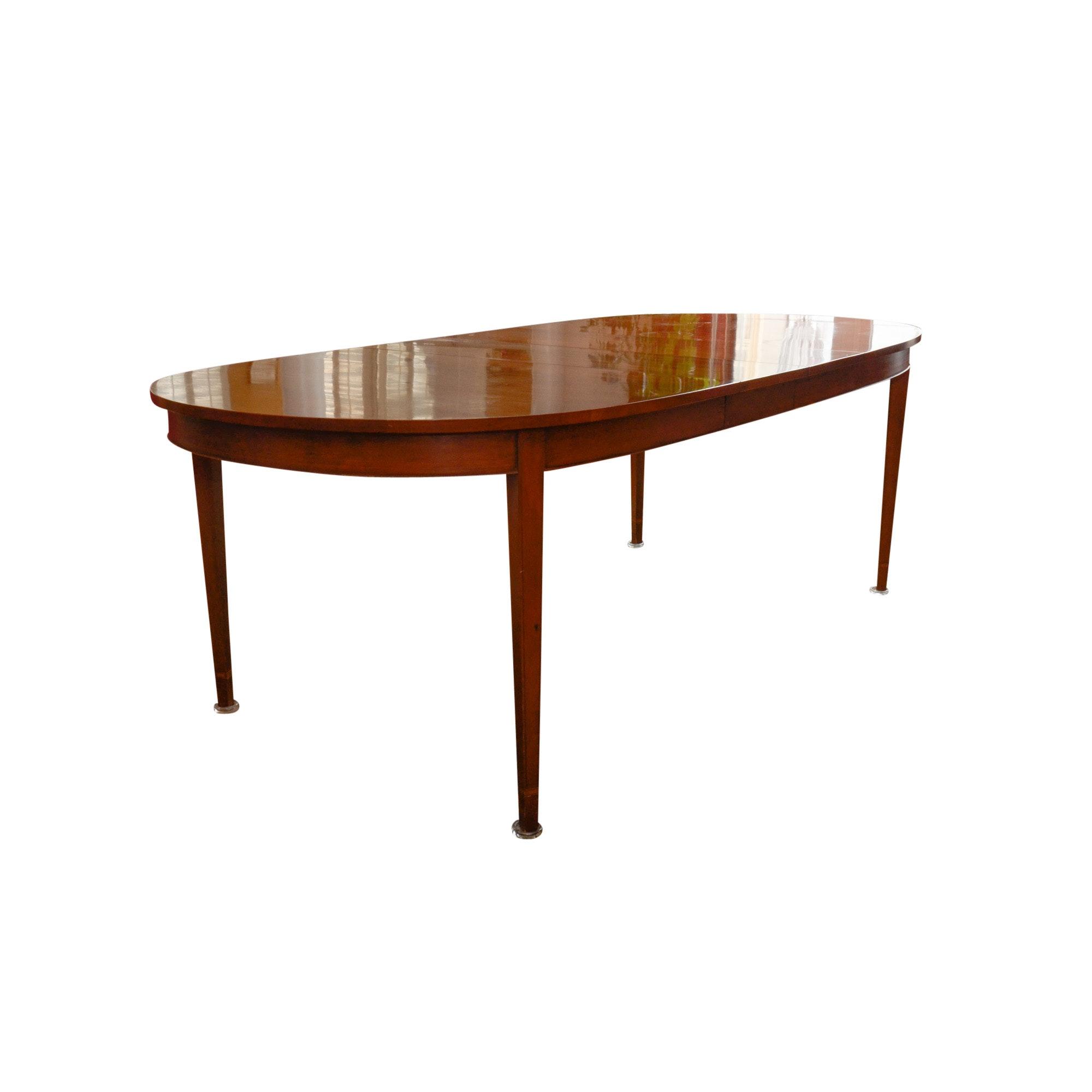 Vintage Black Cherry Dining Table by Henkel-Harris