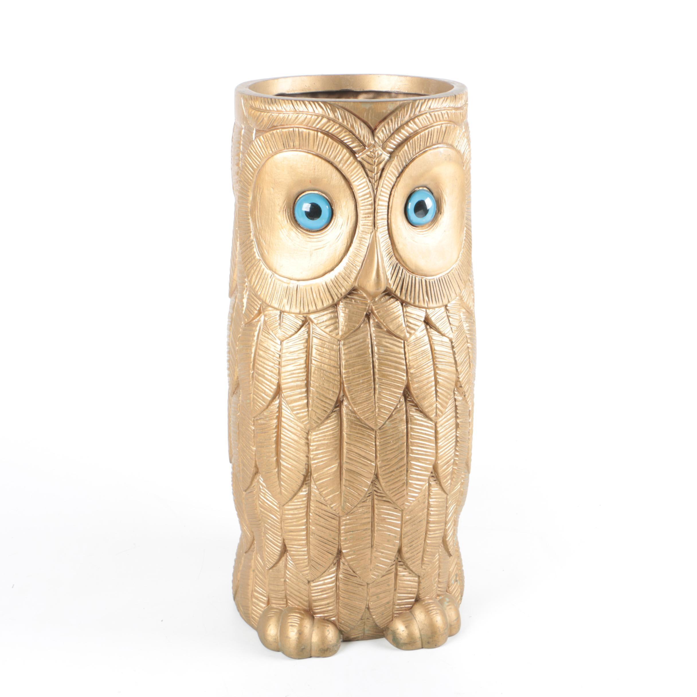 Burwood Plastic Owl Vase