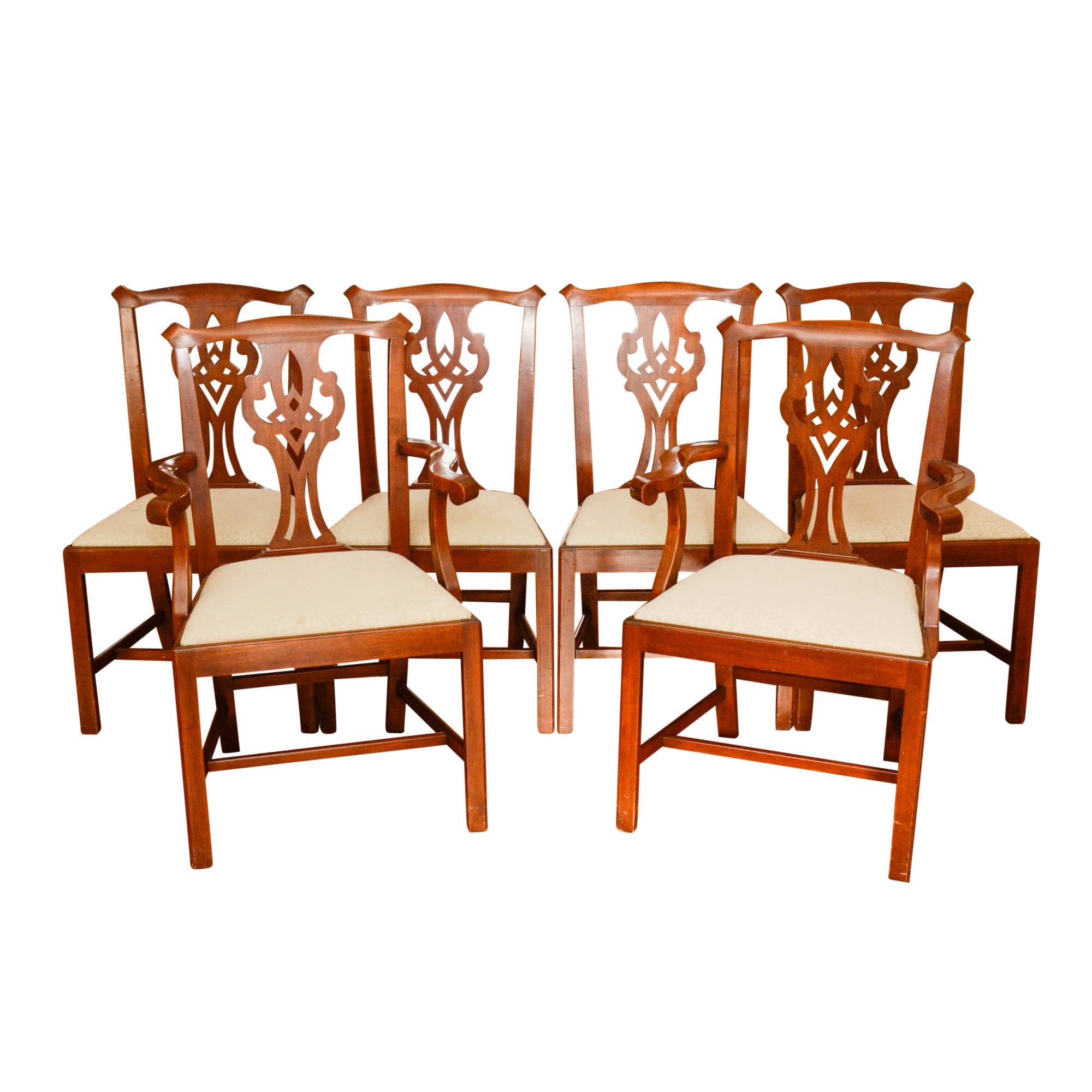 Vintage Chippendale Style Dining Chairs by Henkel-Harris