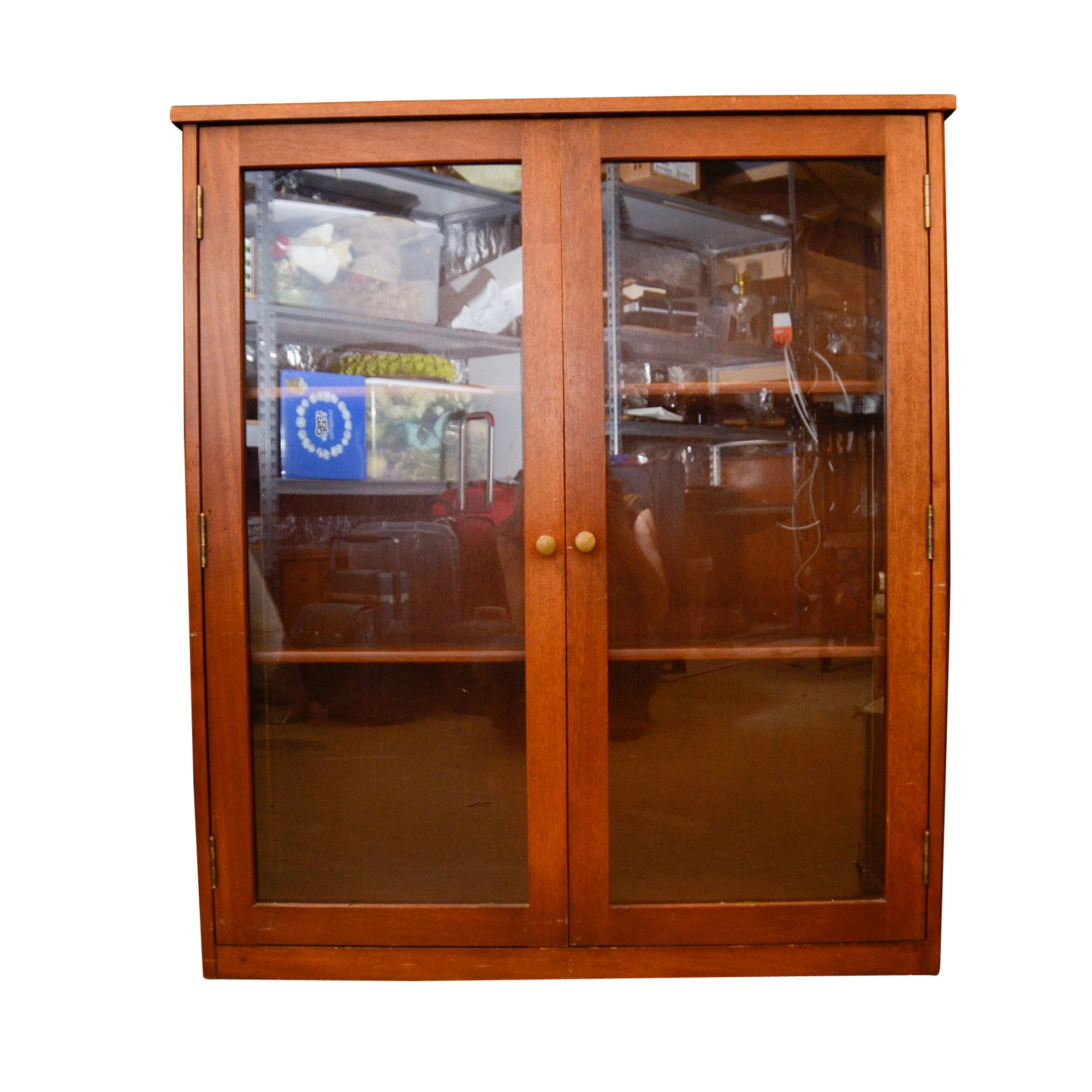 Vintage Glass Front Mahogany Cabinet