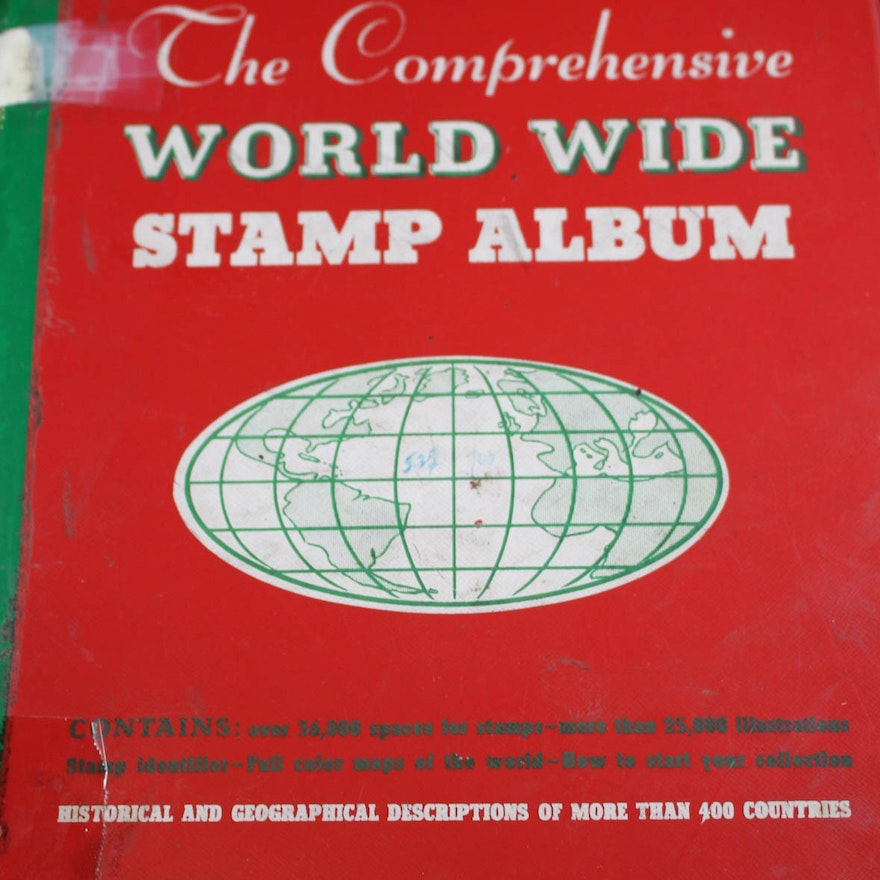 Vintage Minkus World Stamp Album Including Stamps from Germany Through  Greece