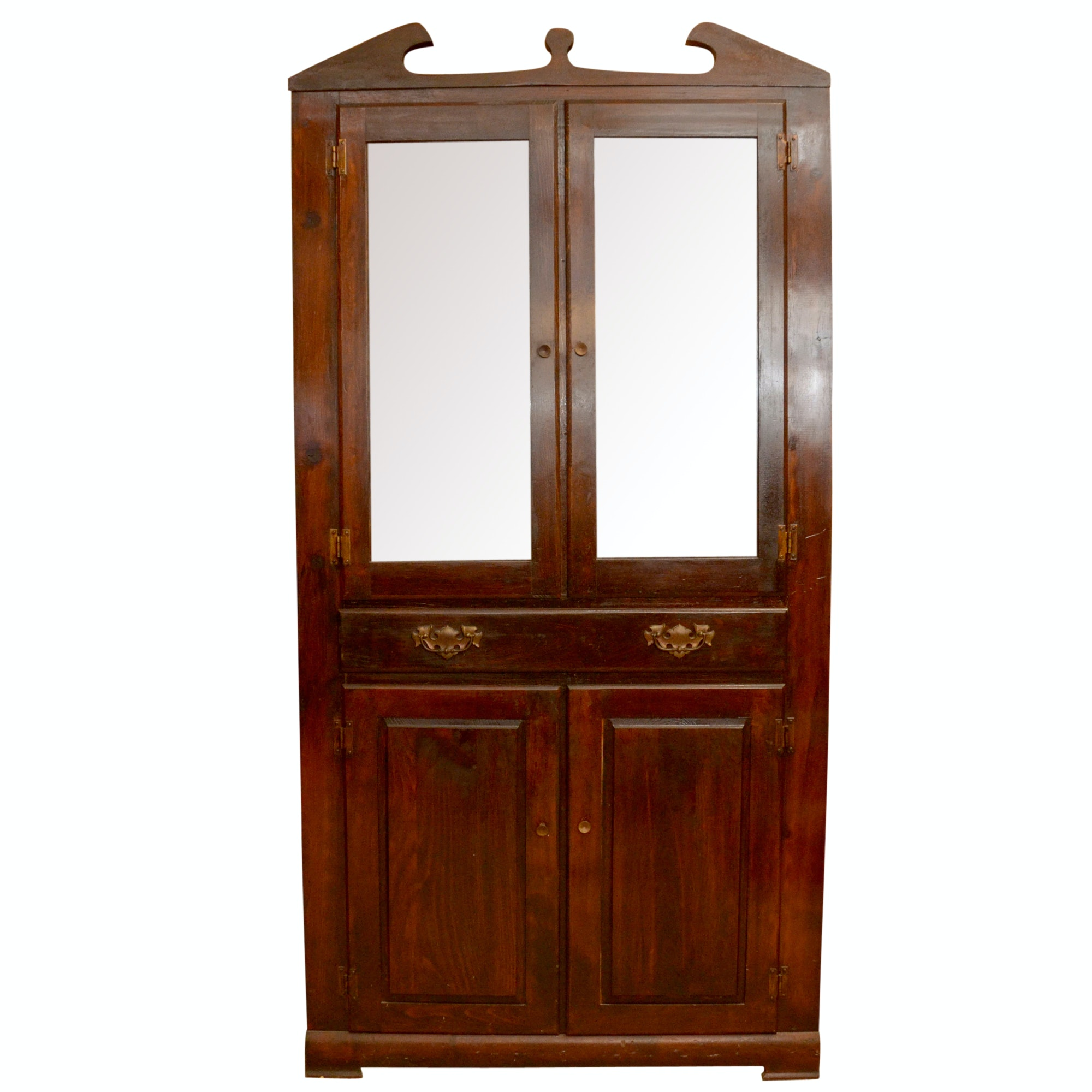 Vintage Federal Style Corner Cabinet by Mastercraft