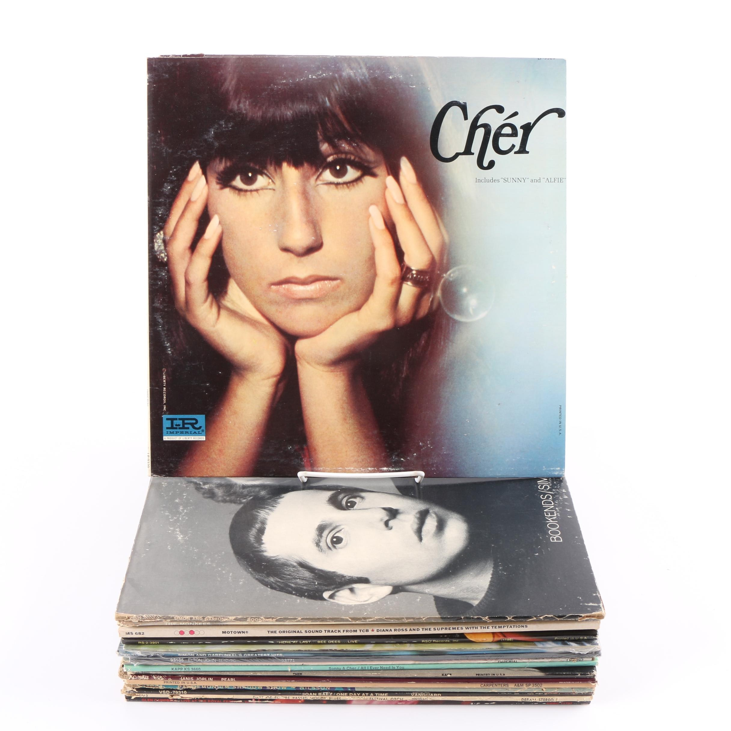 Cher, Simon and Garfunkel, Janis Joplin and Other Vinyl Records