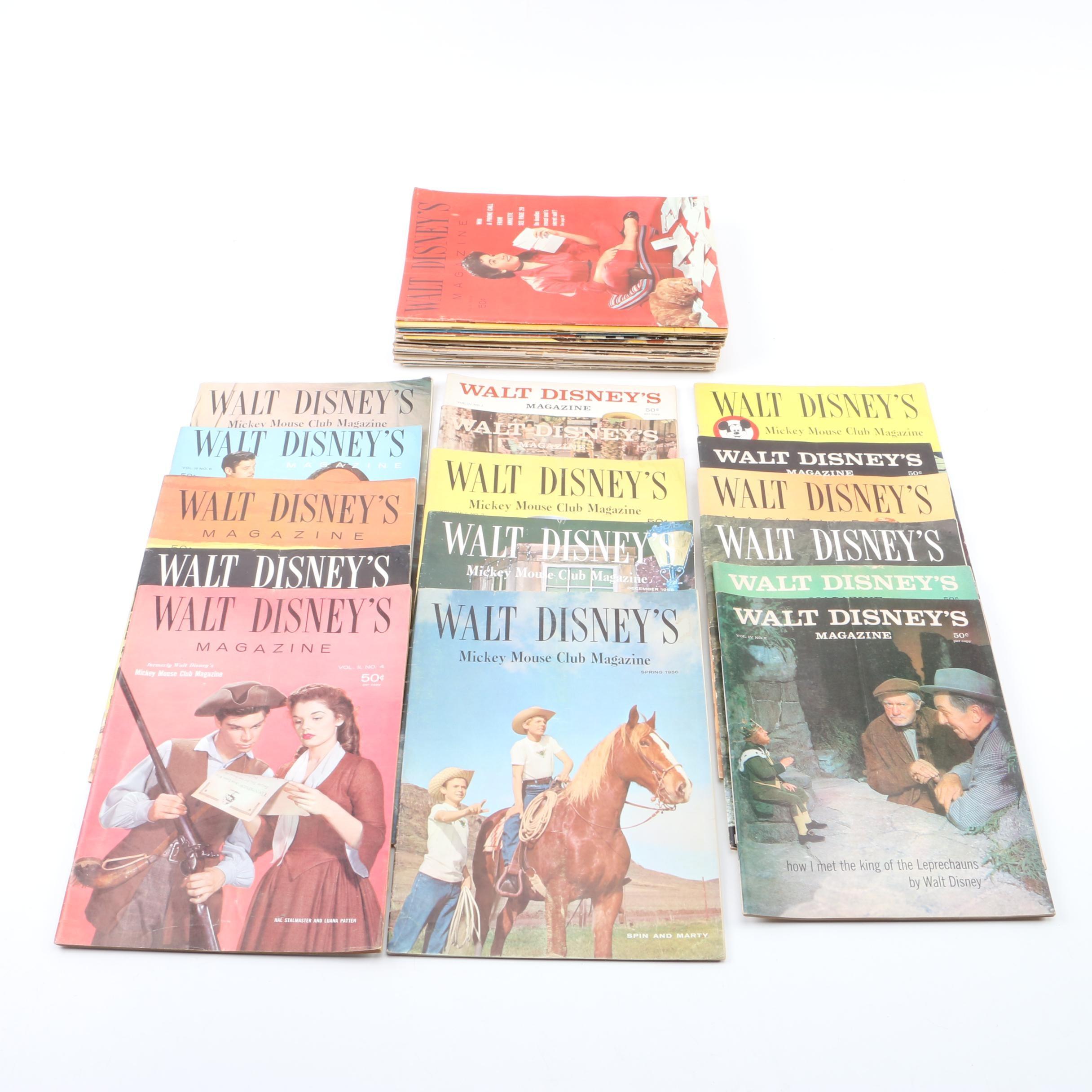 "1950s Magazines Including ""Co-ed"" and ""Walt Disney's Magazines"""