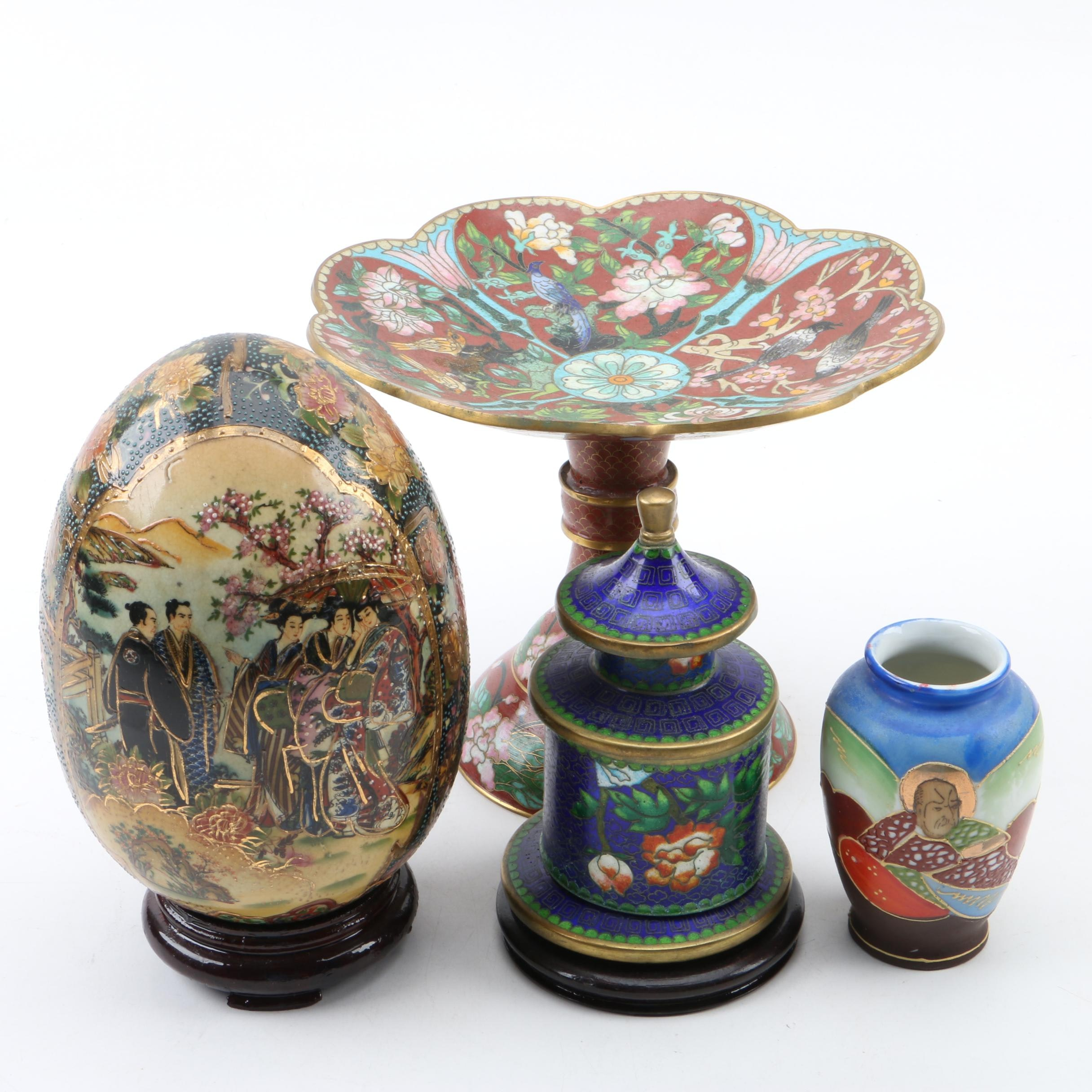 Chinese Royal Satsuma, Occupied Japan and Cloisonne Decor