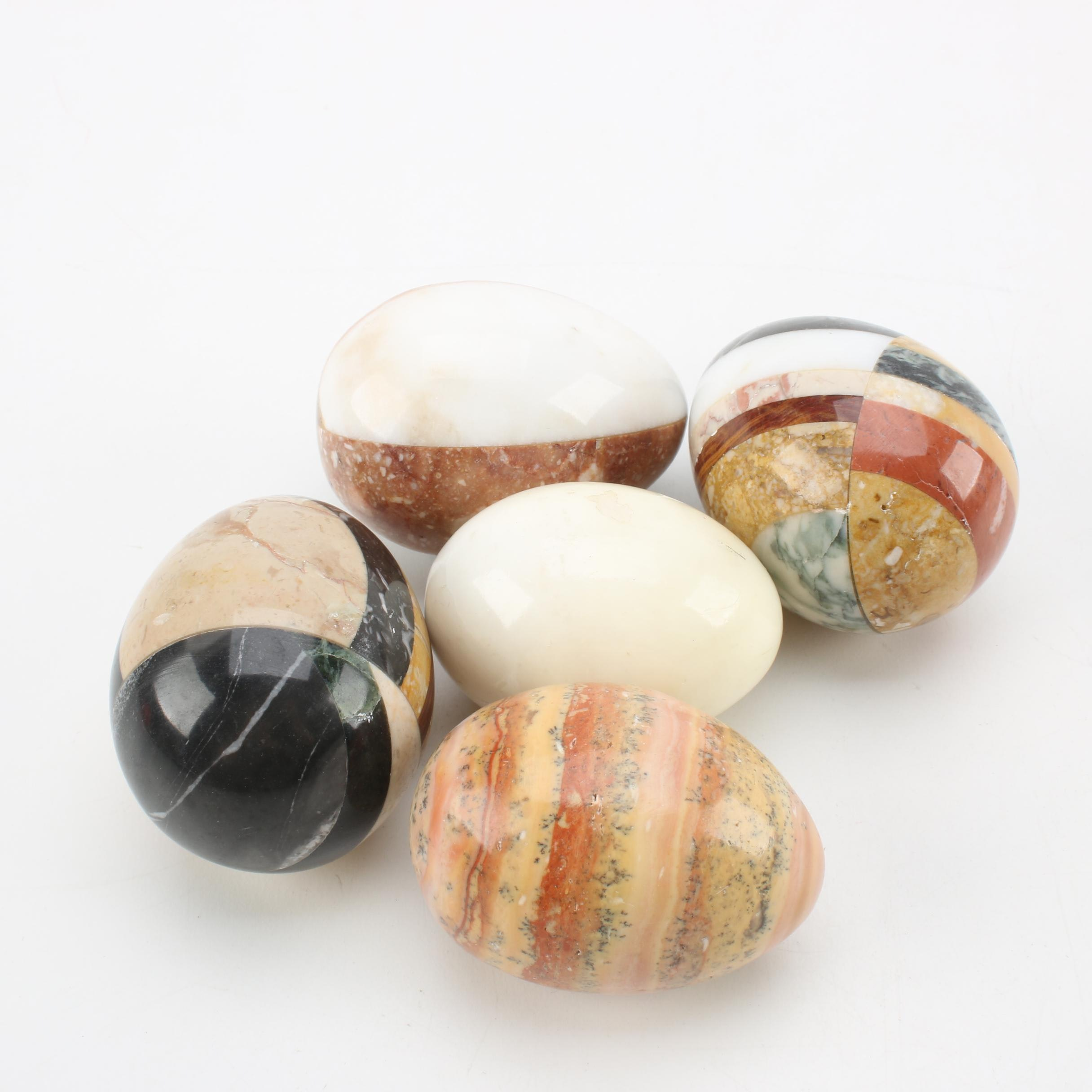 Marble, Agate and Alabaster Eggs