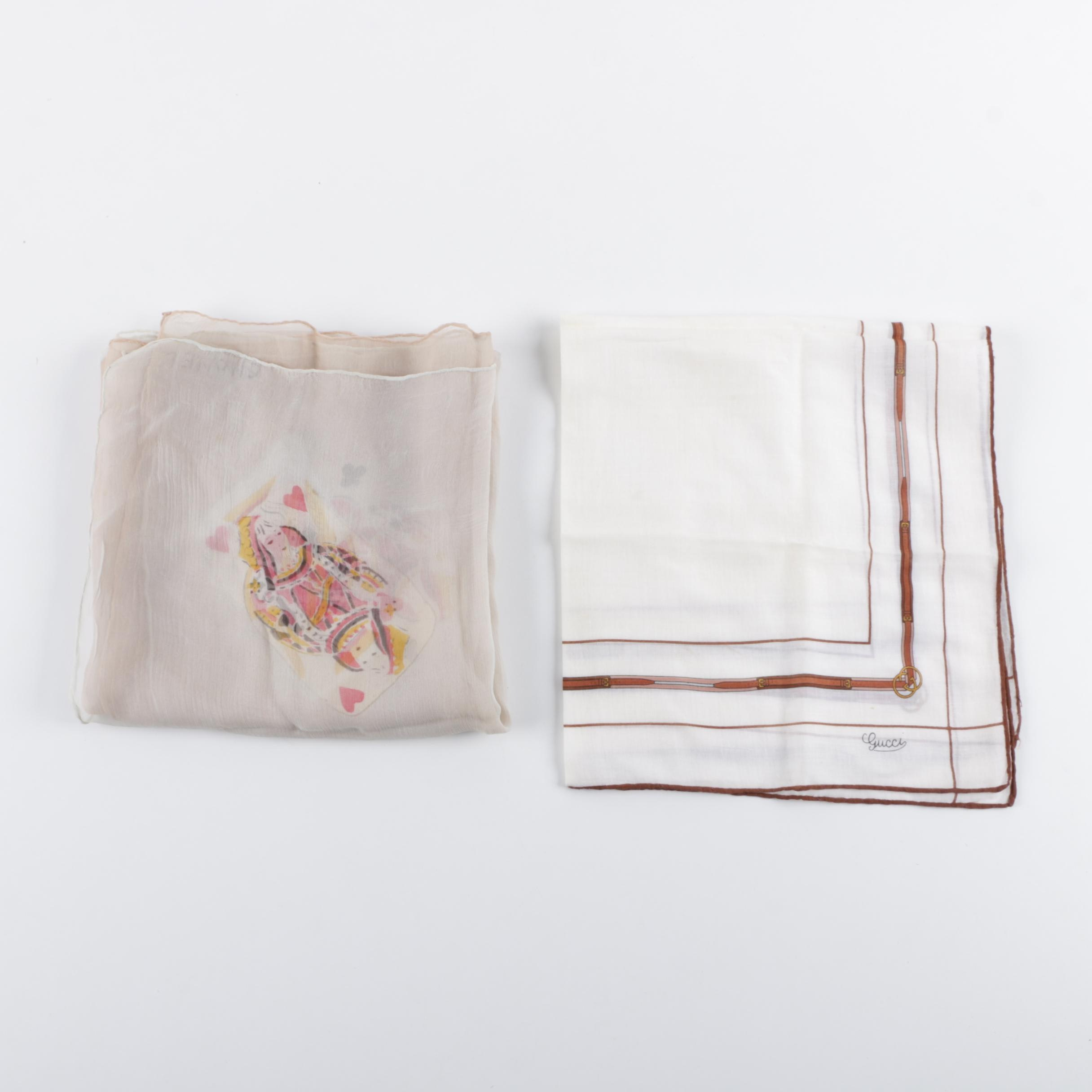 Vintage Chanel and Gucci Silk Neck Scarves