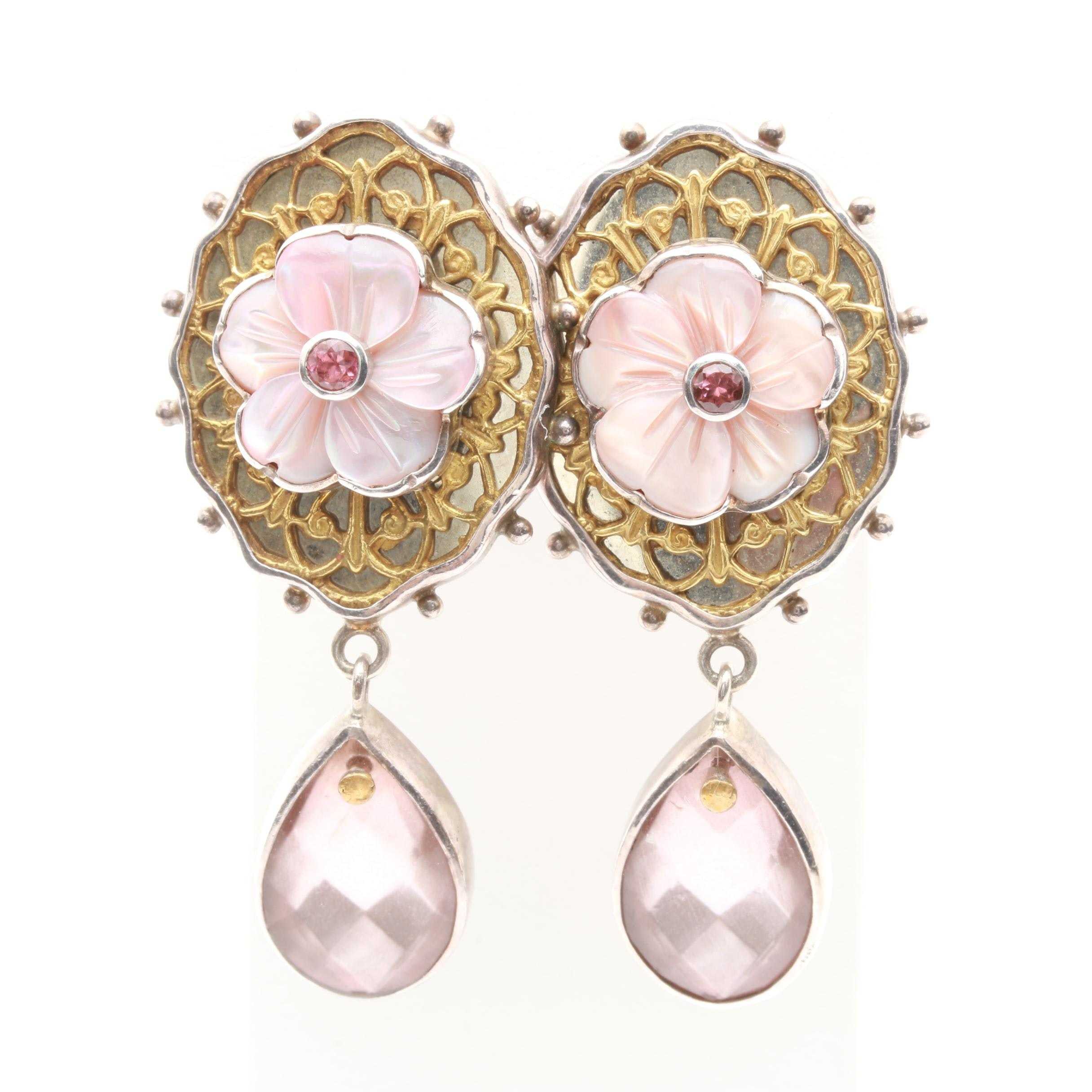 Mars and Valentine Sterling Silver Gemstone Earrings Including Pink Tourmaline