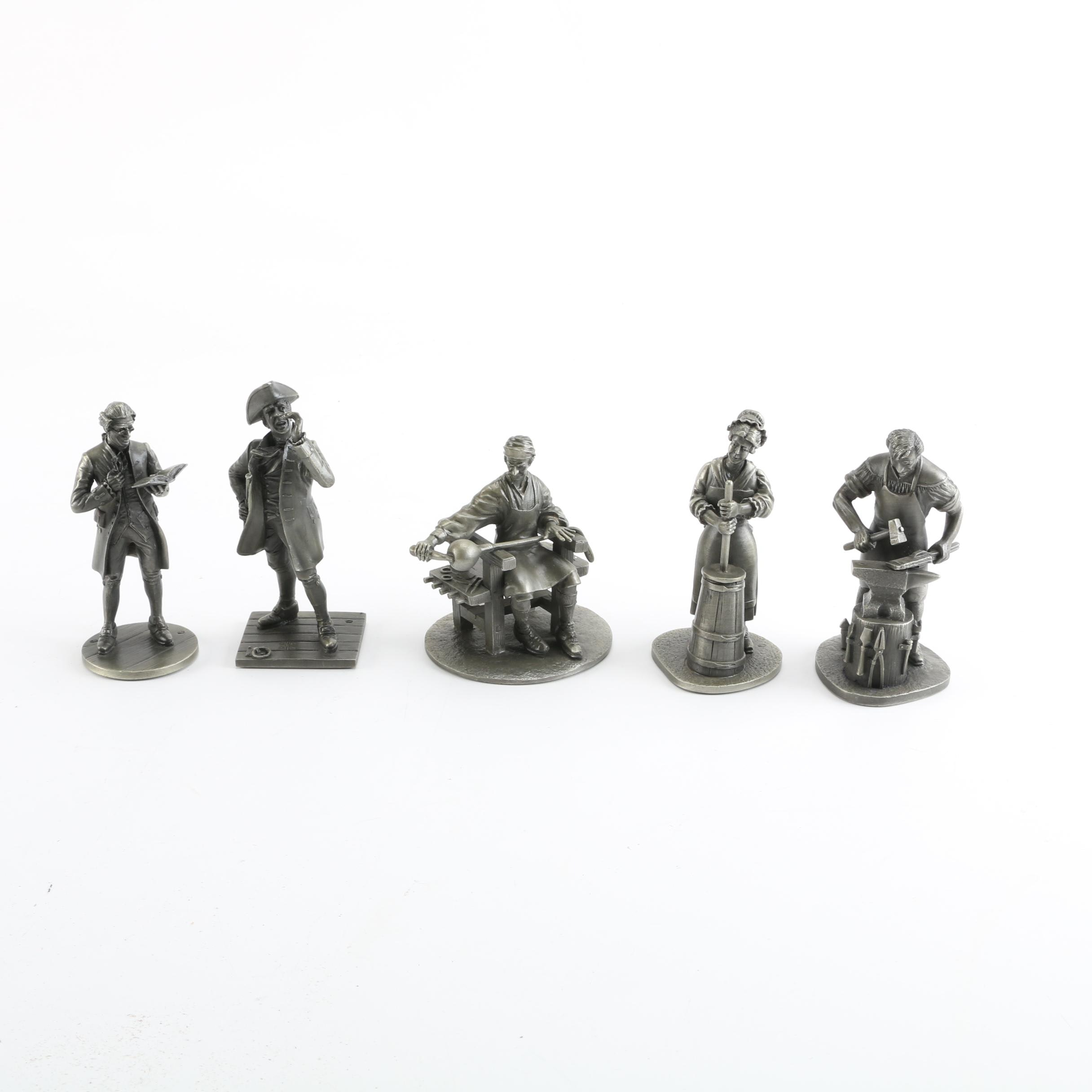 The Franklin Mint Pewter Vocational Figurines
