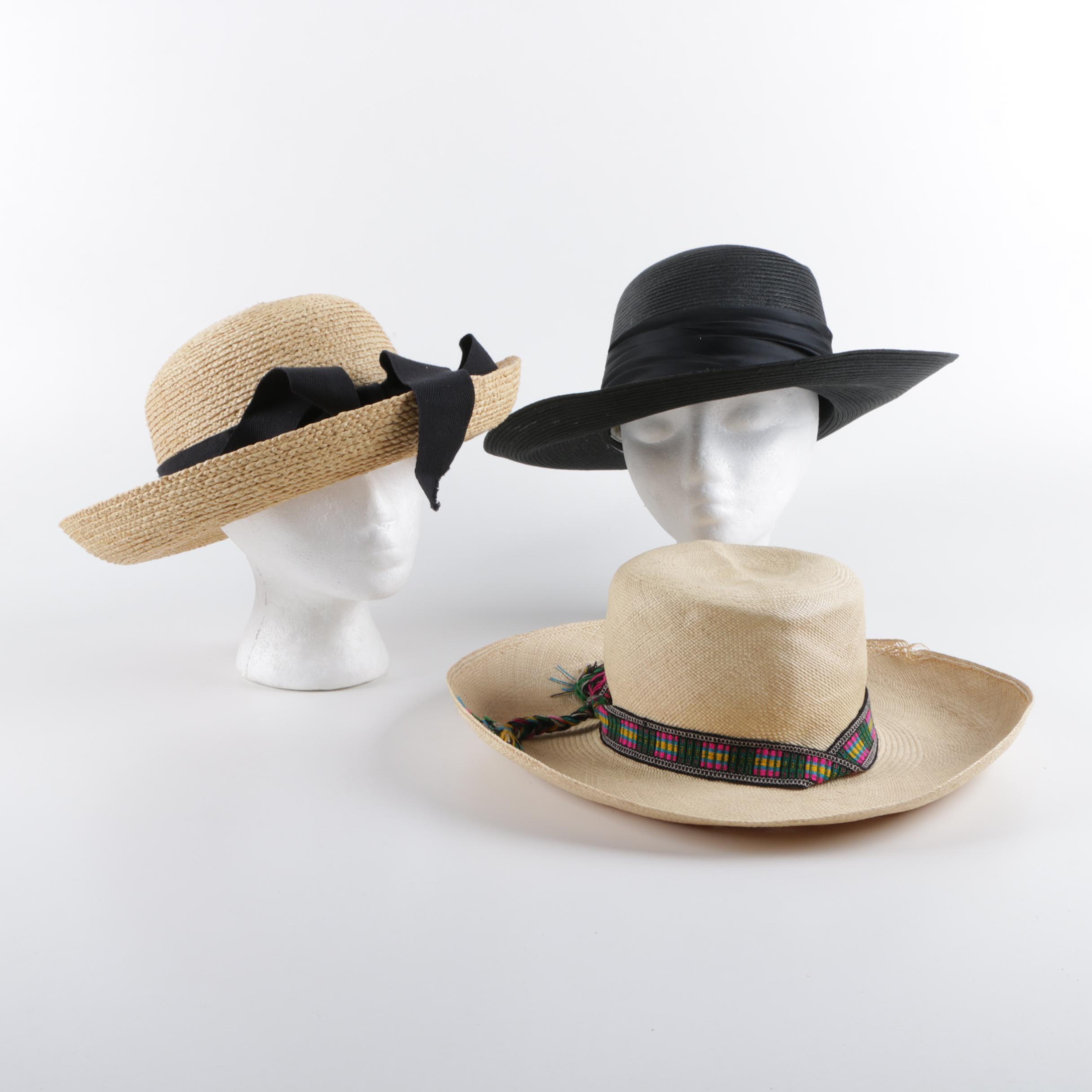 Women's Straw Sun Hats, Including Helen Kaminski