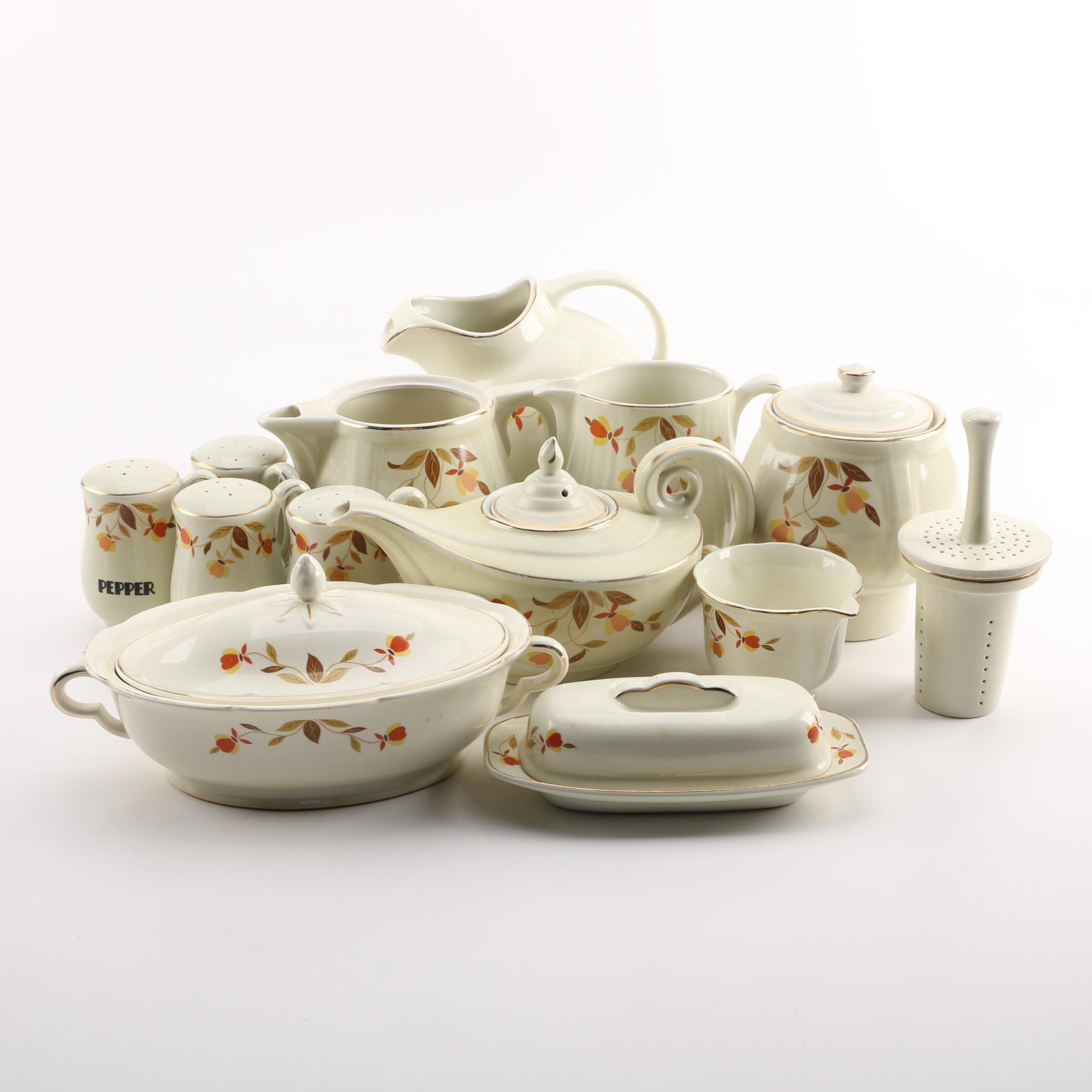 """Hall's """"Autumn Leaf"""" Tableware, Circa 1933-1976"""