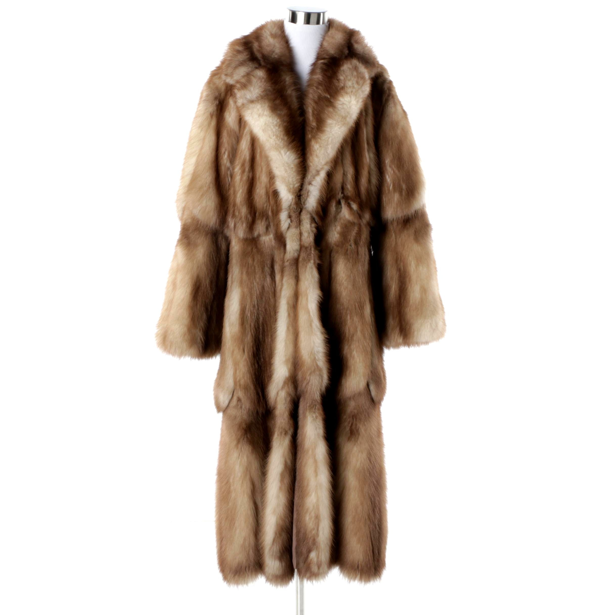 Women's Vintage Creeds of Toronto Stone Marten Fur Coat
