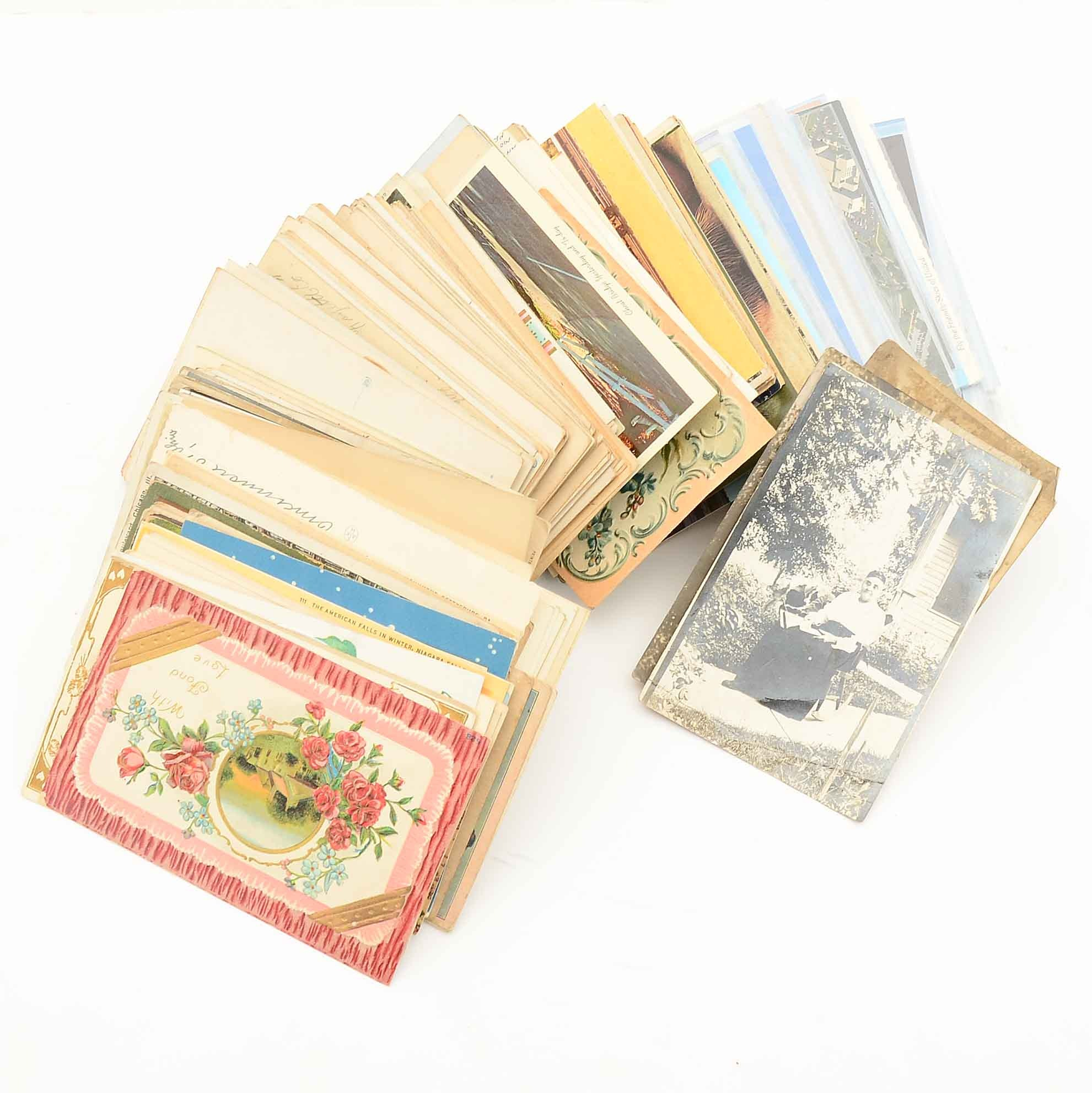 Collection of Vintage to Antique Postcards