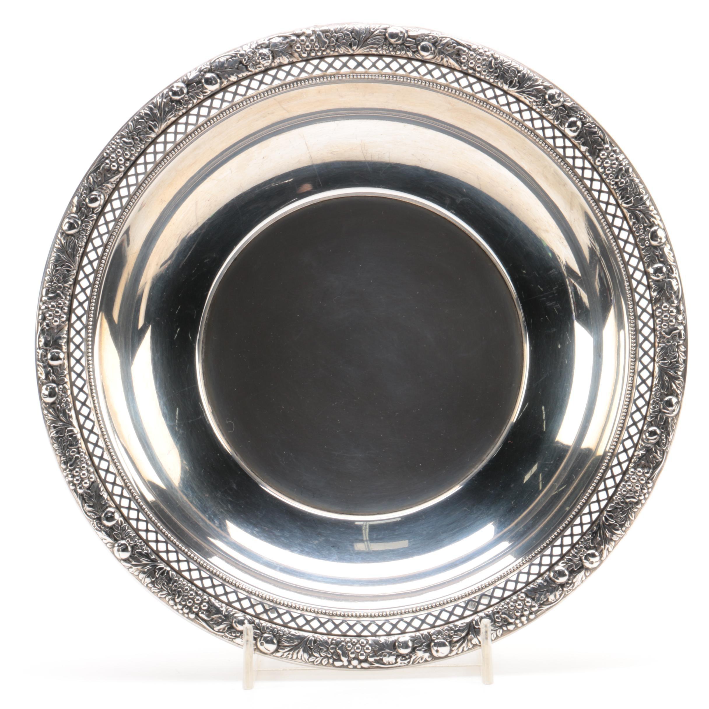 Lunt Silversmiths Pierced Rim Sterling Silver Bowl
