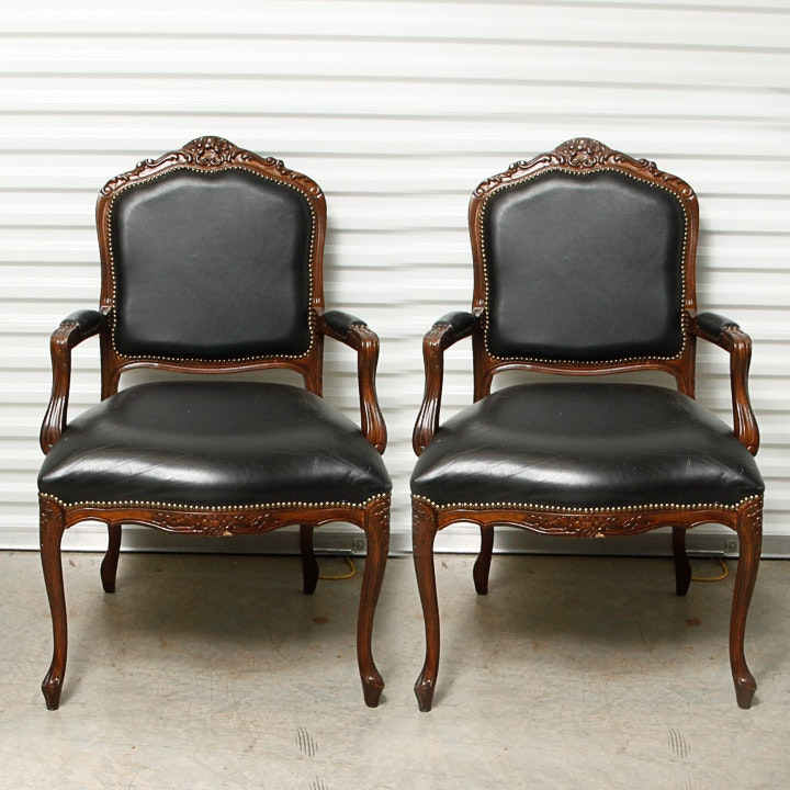 Vintage Louis XV Style Armchairs