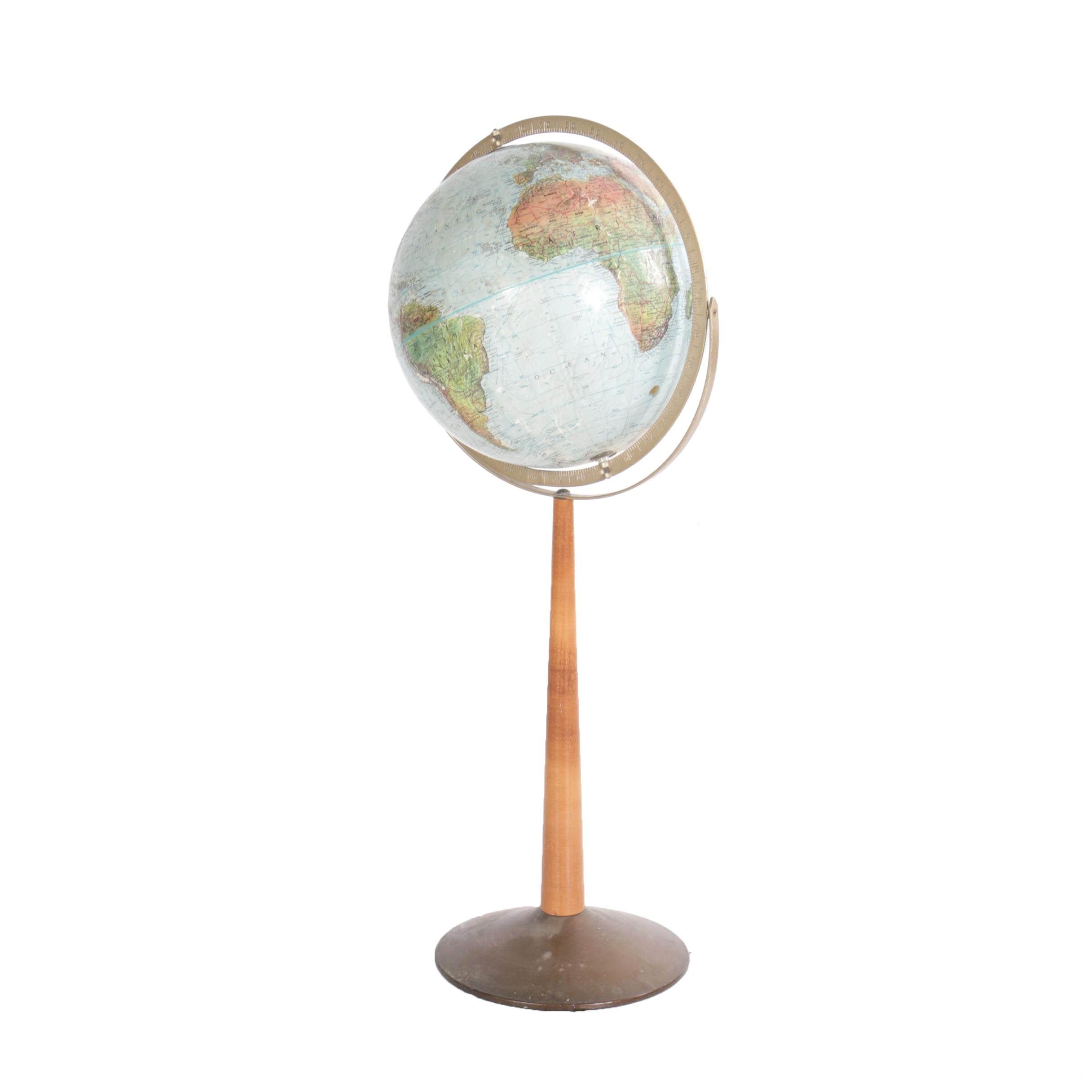 Mid Century Modern Floor Globe