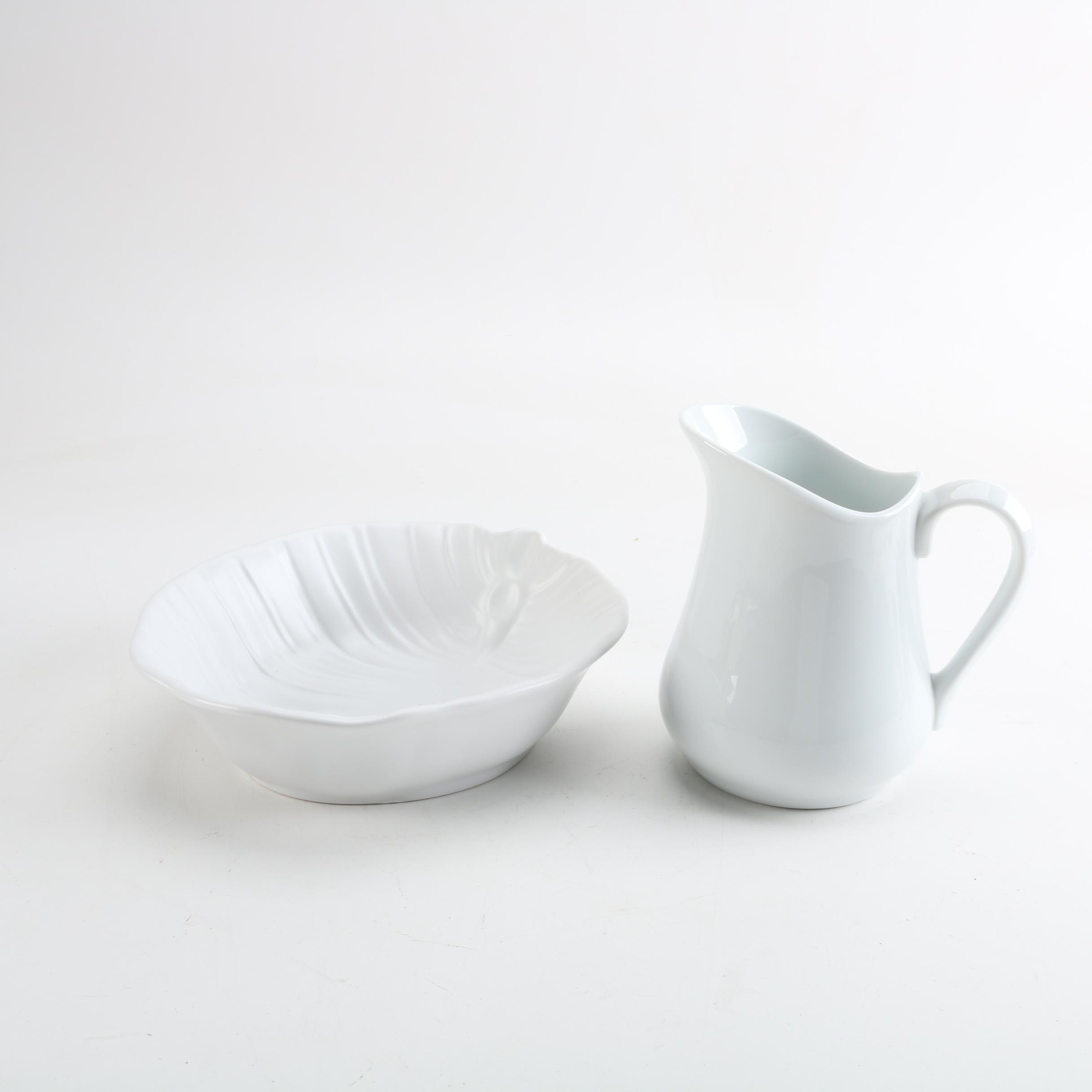 Roscher & Co. Ceramic Bowl and Cordon Bleu Ceramic Pitcher