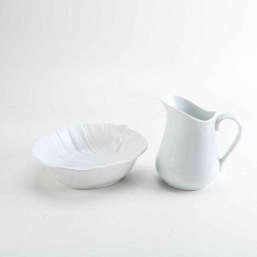 Roscher & Co. Ceramic Bowl and Cordon Bleu Ceramic Pitcher : EBTH
