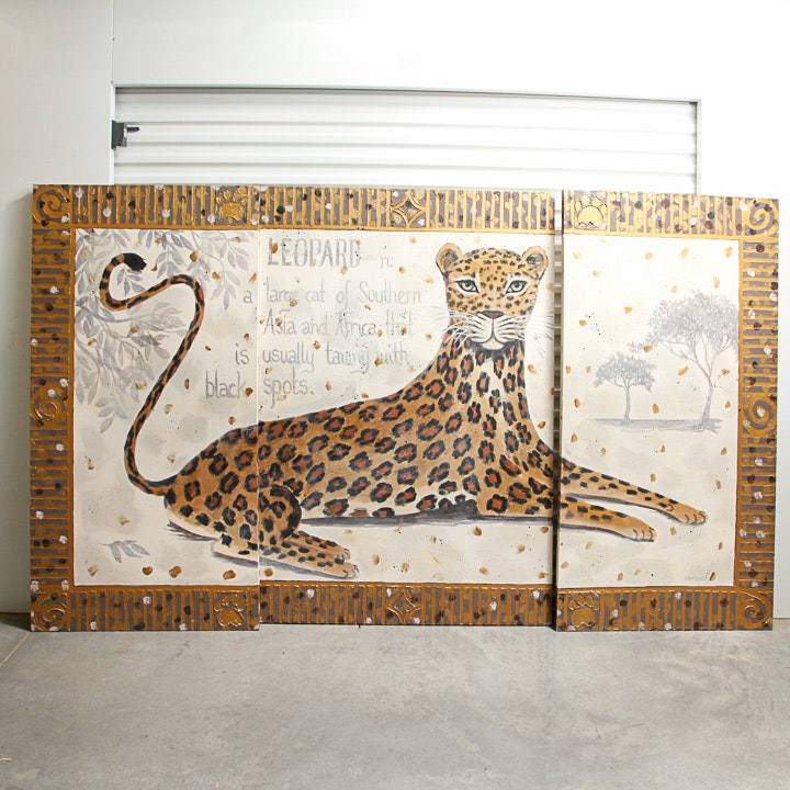 C.K. McKinley Leopard Painting