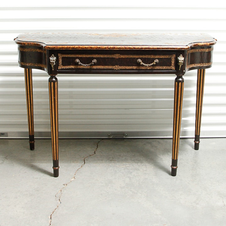 Distress Finish Console Table