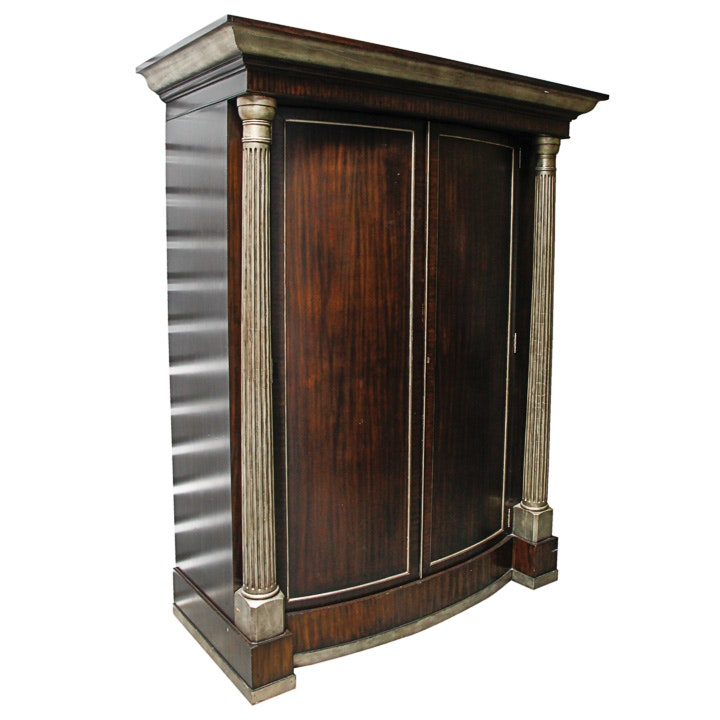 Campaign Style Liquor Cabinet with Bar