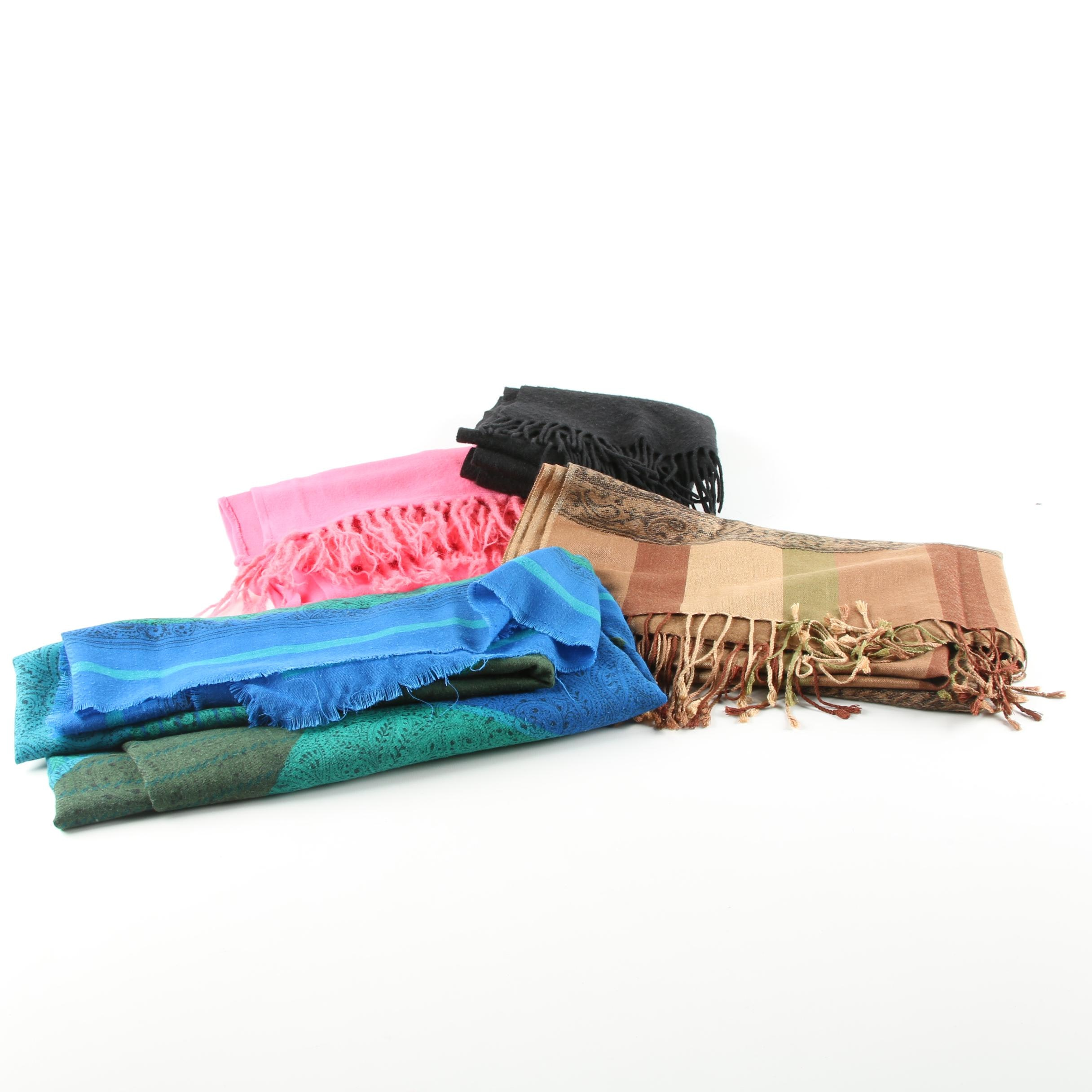 Cashmere and Wool Blend Scarves and Wraps