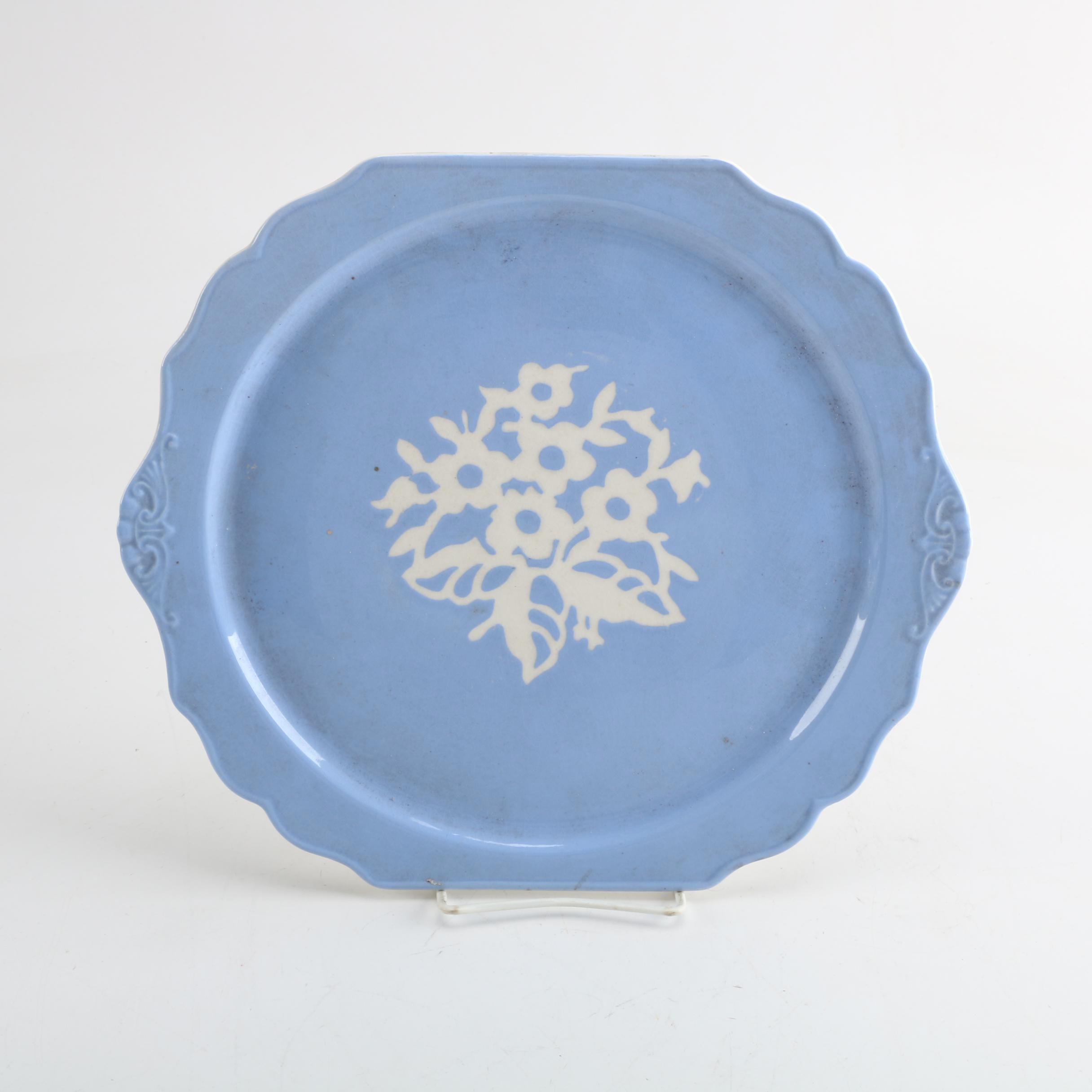 Vintage Harker Pottery Cameo Ware Serving Plate