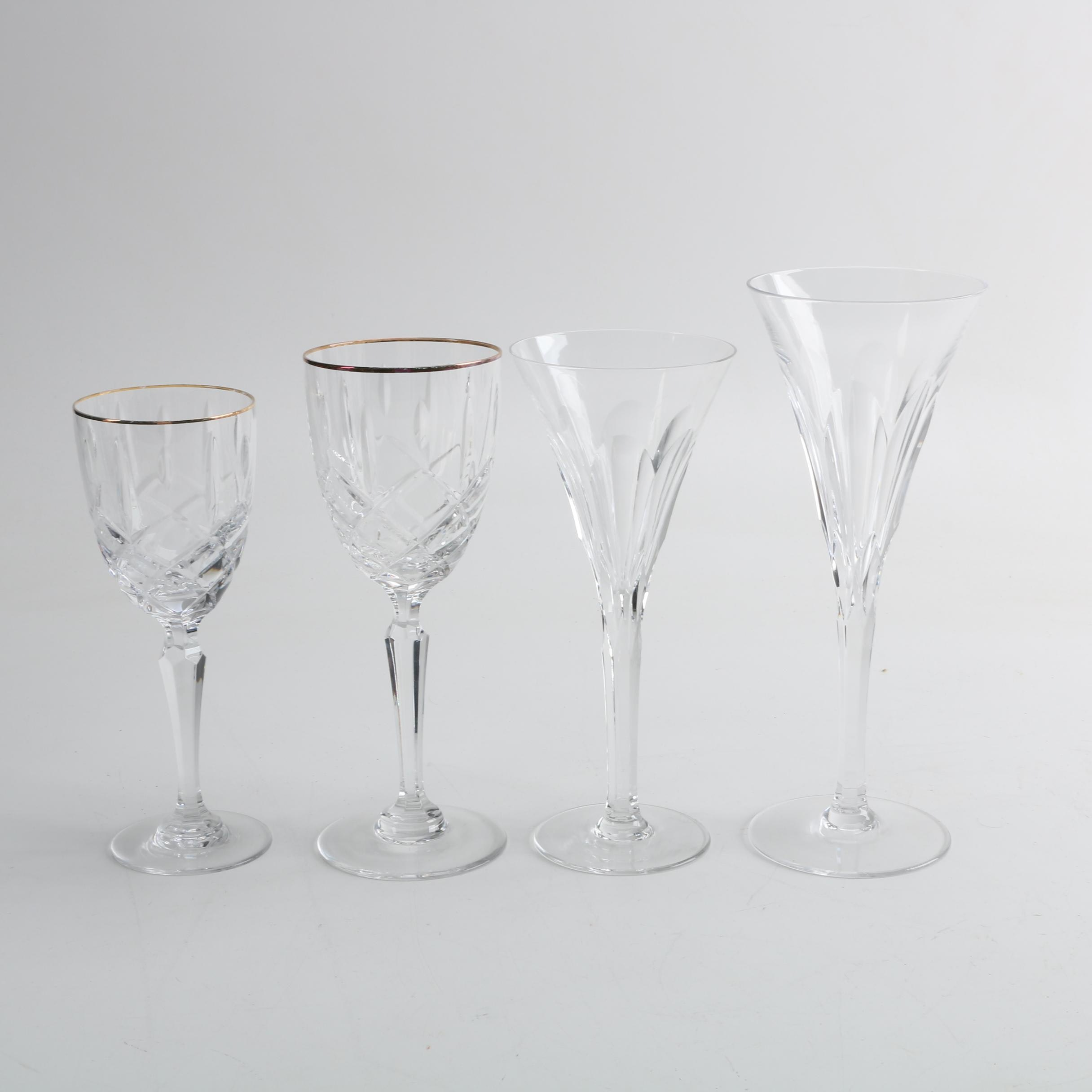 "Ceska Crystal ""Danielle"" Stemware and Other Stemware"