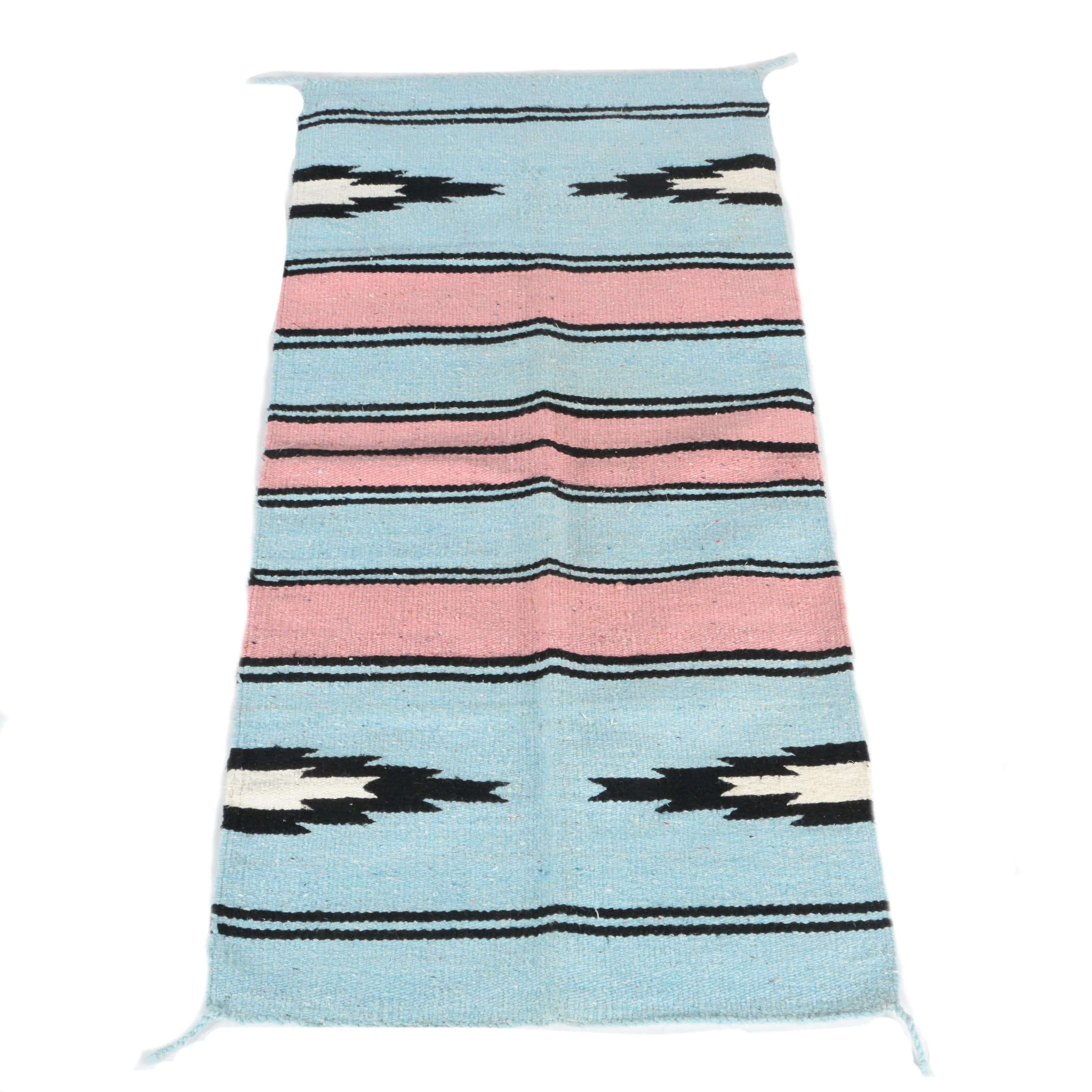 Handwoven Navajo-Style Wool Accent Rug