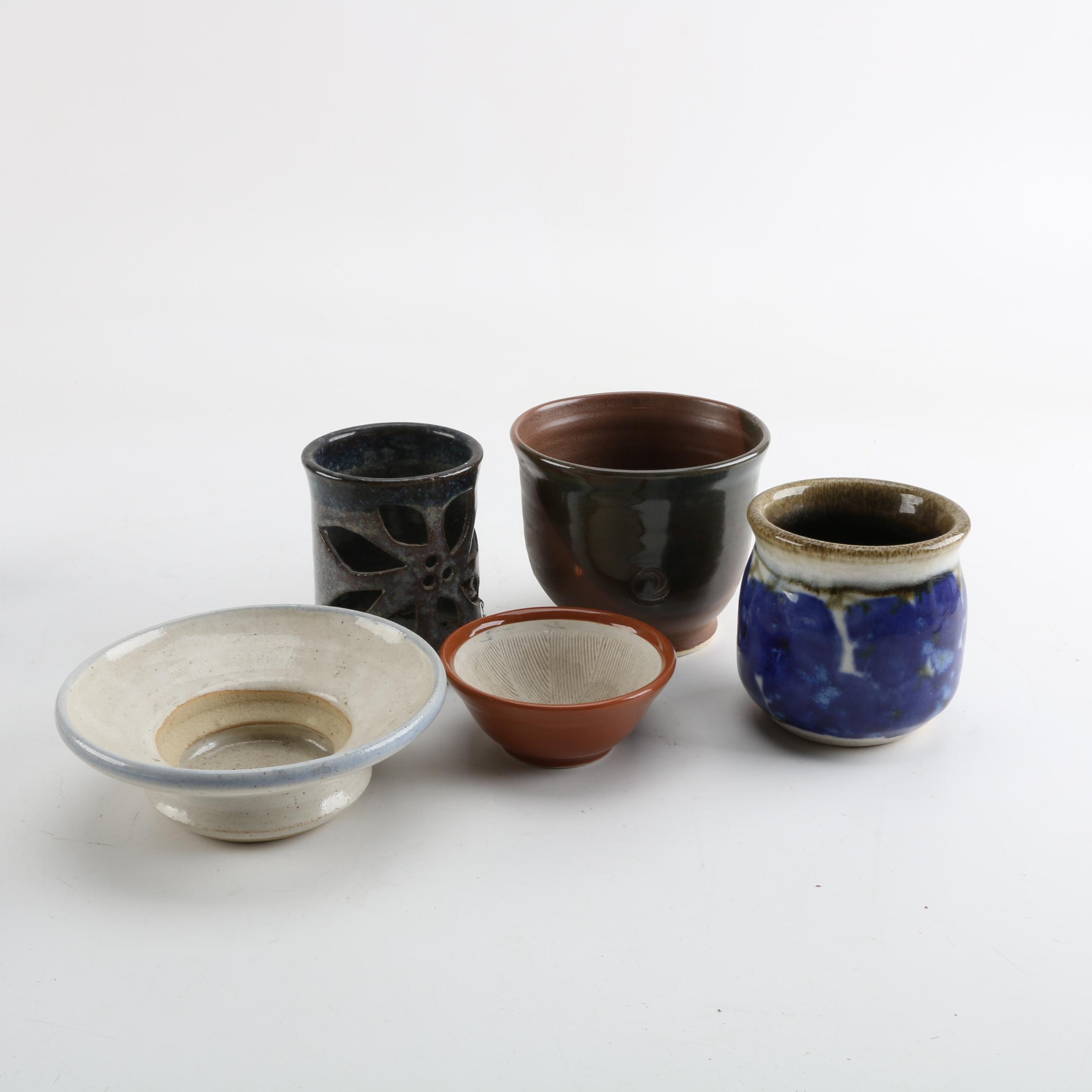 Hand-Built Earthenware and Ceramic Miniature Vessels