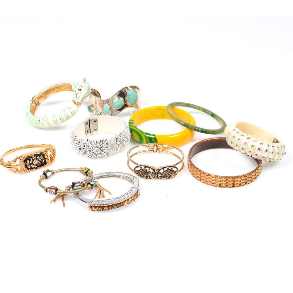 Costume Jewelry Bangle Bracelets