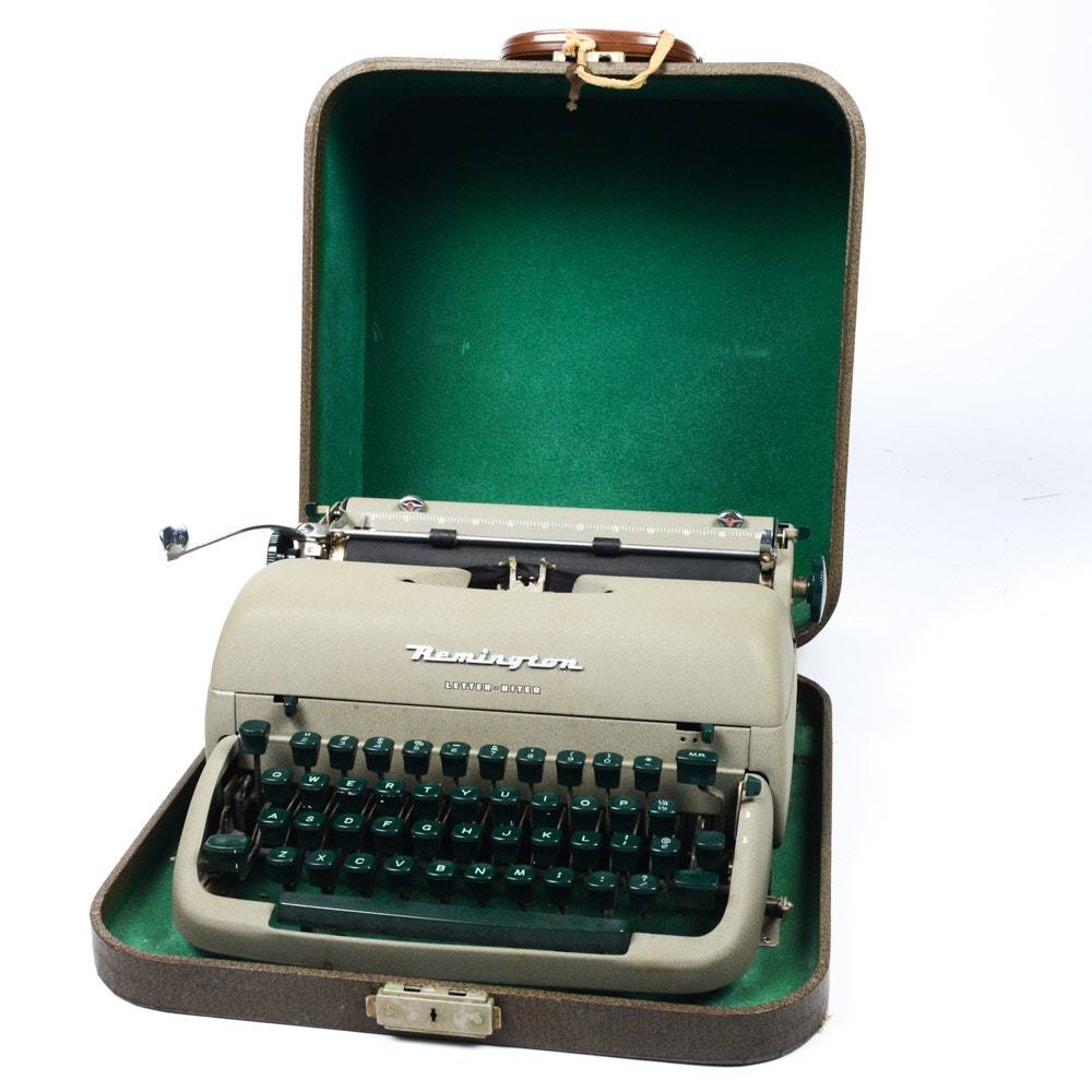 "Remington Portable ""Letter-Riter"" Typewriter"