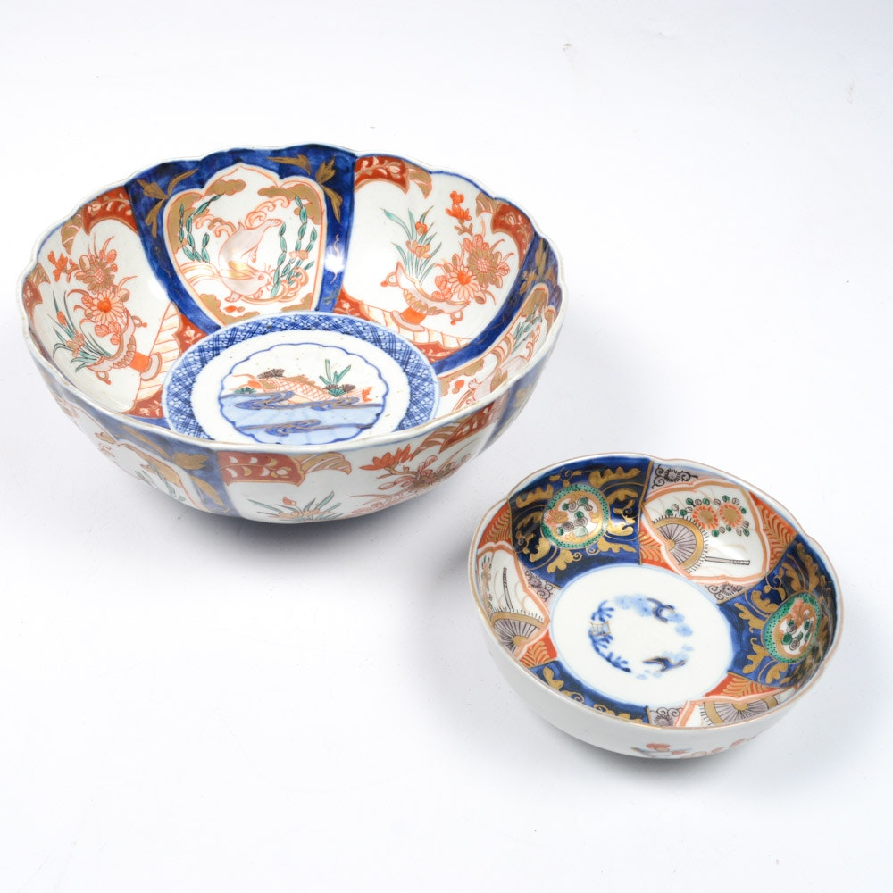 Late 19th Century Japanese Imari Porcelain Bowls