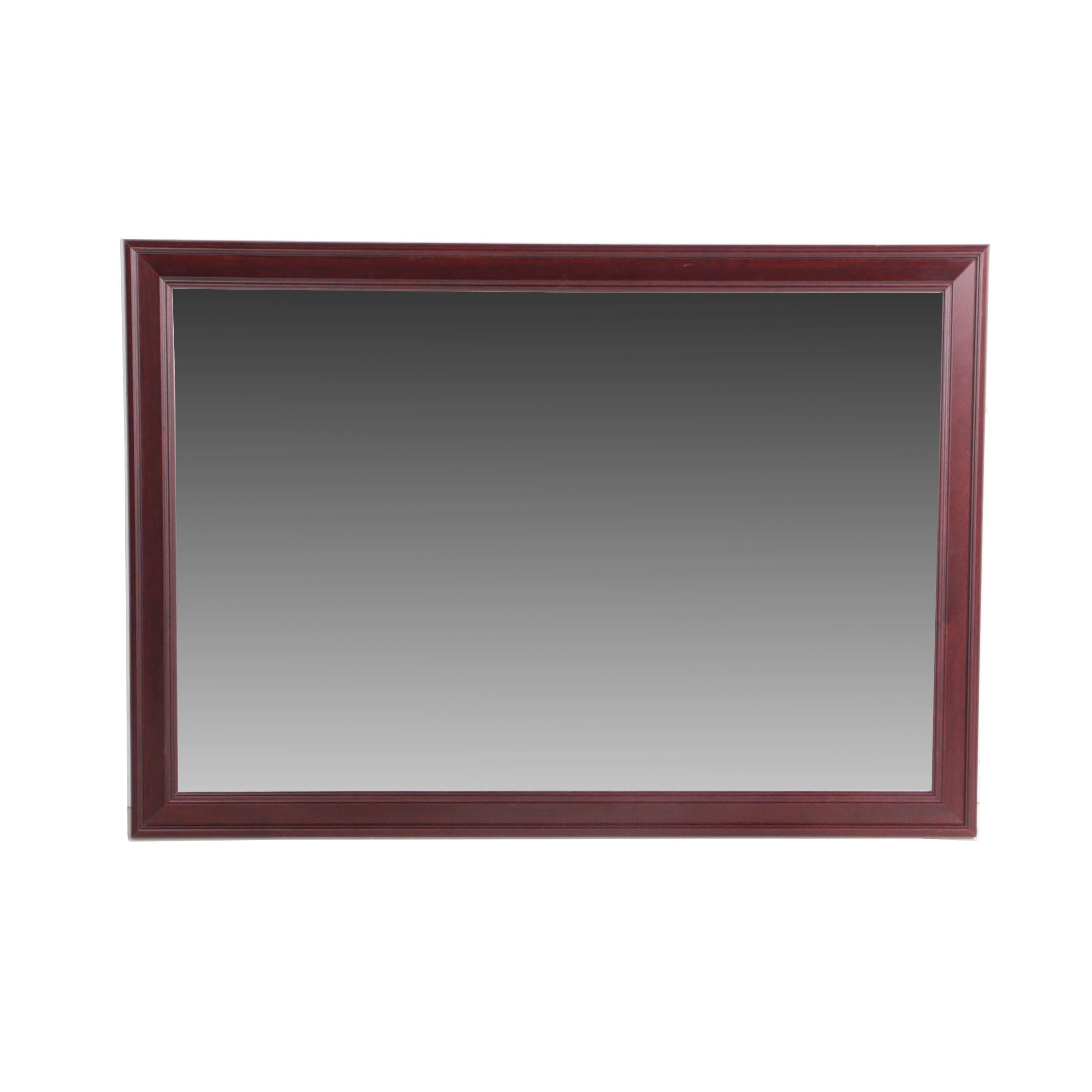 Wall Mirror with Contemporary Wood Frame