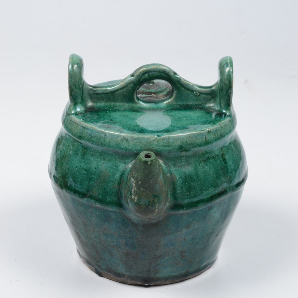 Antique Korean Stoneware Teapot