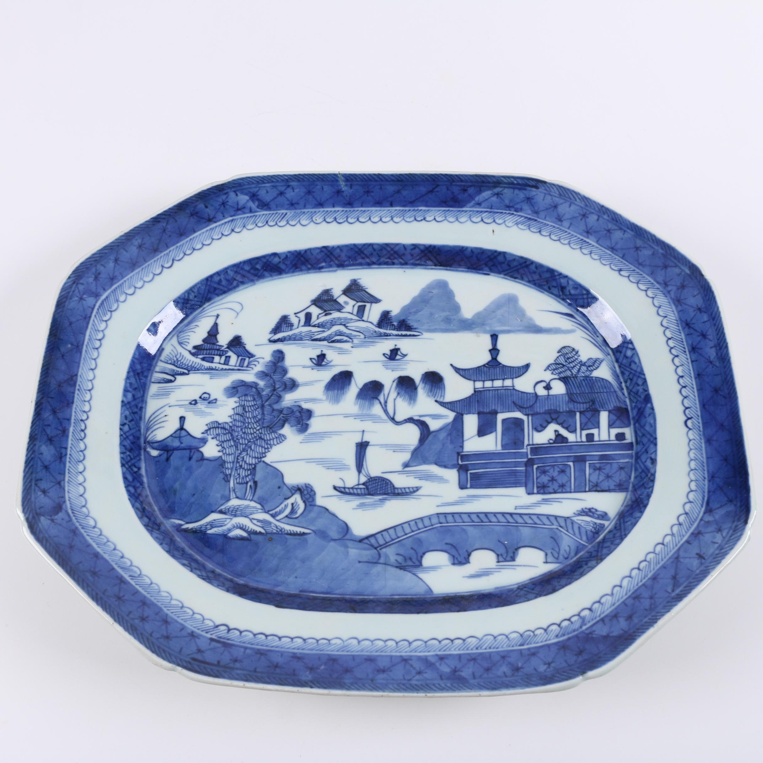Chinese Canton Porcelain Platter