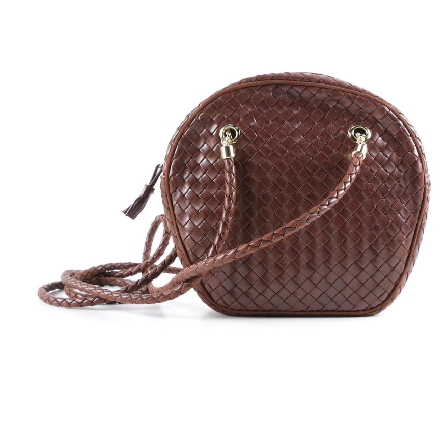Bottega Veneta Intreccio Brown Leather Bag   EBTH a685dc16446e2