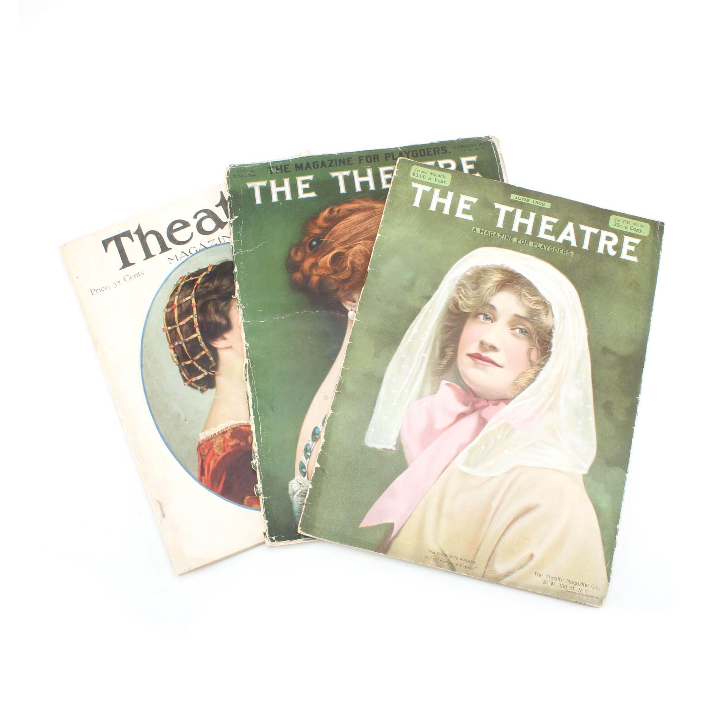 """Early 1900s """"The Theatre"""" and """"Theatre Magazine"""""""