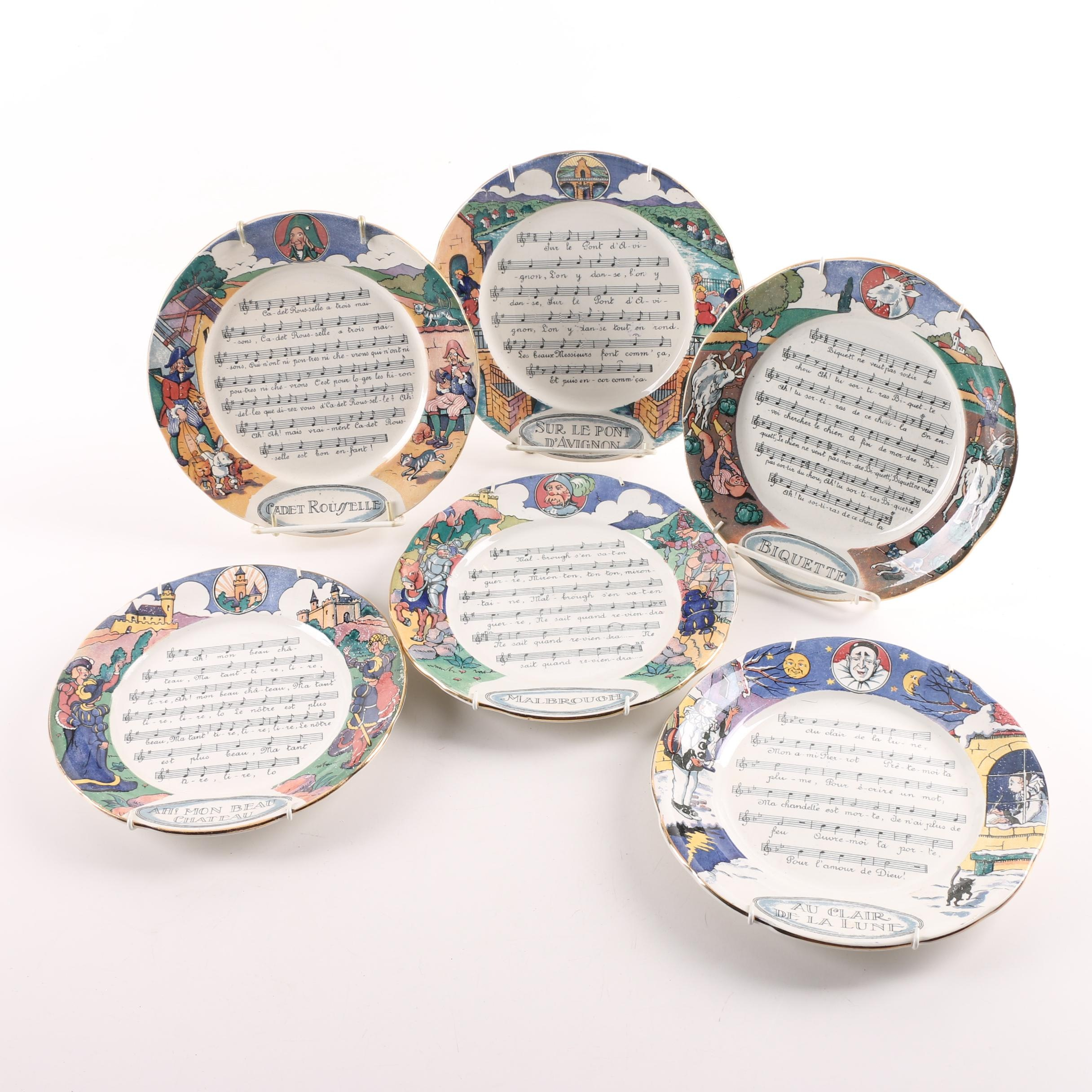 Chansons et Rondes de France Decorative Plates