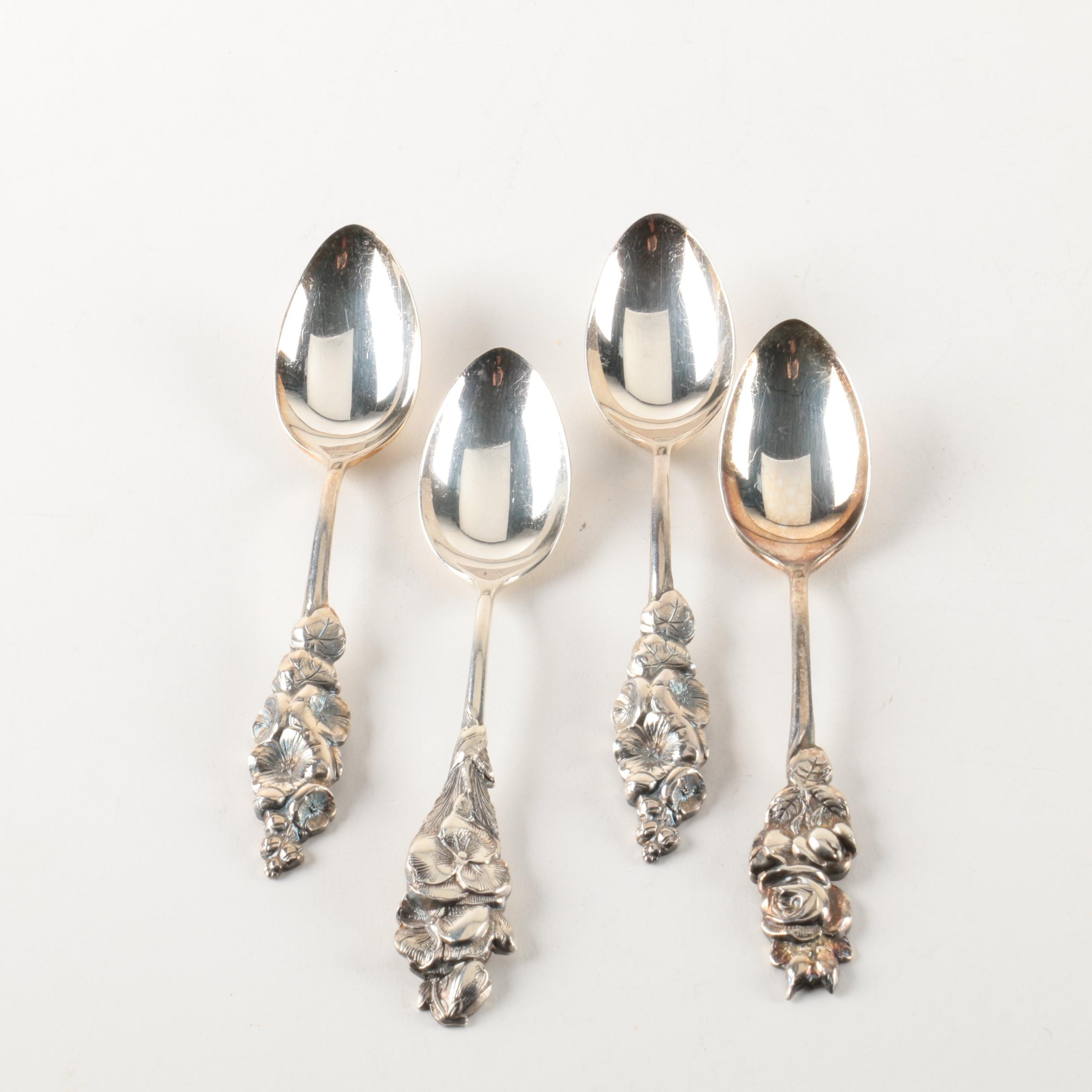 "Reed & Barton ""Harlequin"" Silver Plate Coffee Spoons"