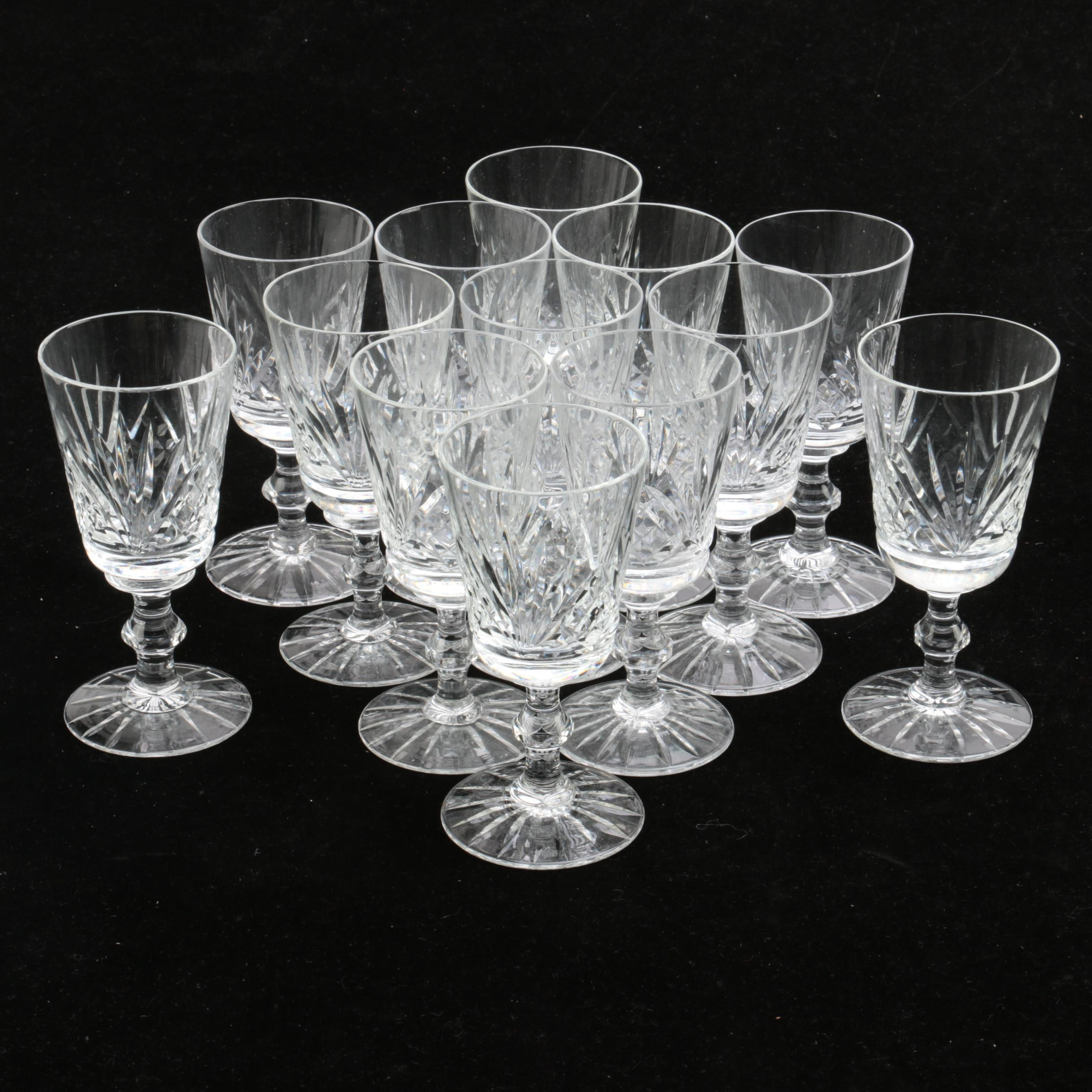 Vintage Hand-Cut Crystal Sherry Glasses
