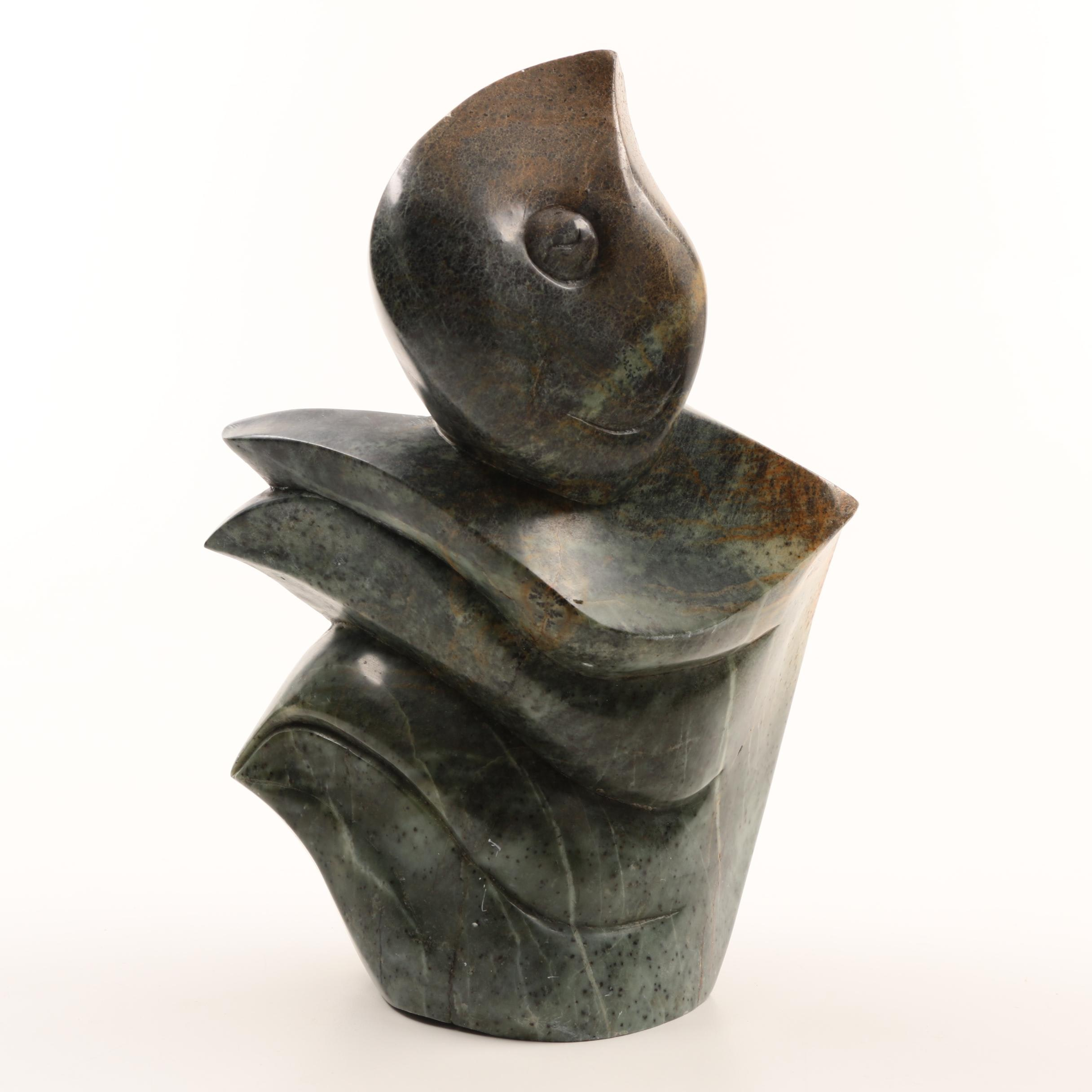 Abstract Figural Soapstone Sculpture