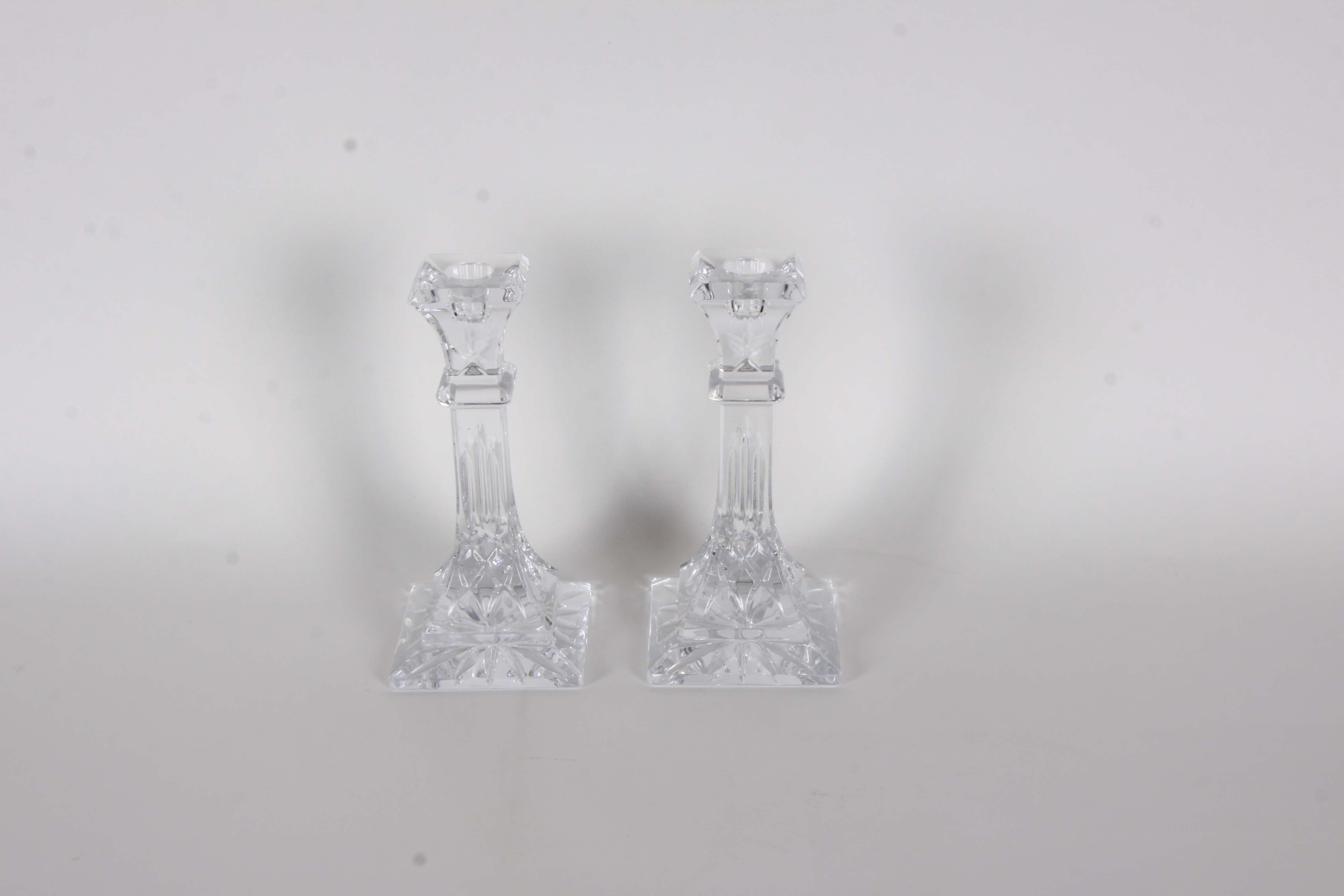 """Waterford Candle Sticks in the """"Lismore"""" Pattern"""