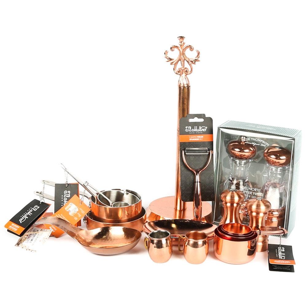 Copper Kitchen Accessories Featuring Il Mulino