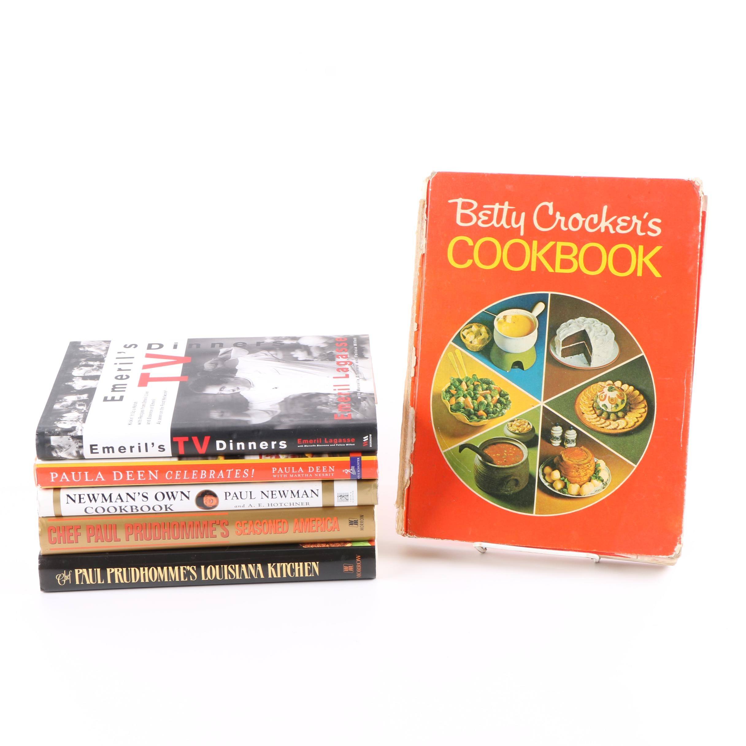 """1991 """"Chef Paul Prudhomme's Seasoned America"""" and Other Cookbooks"""