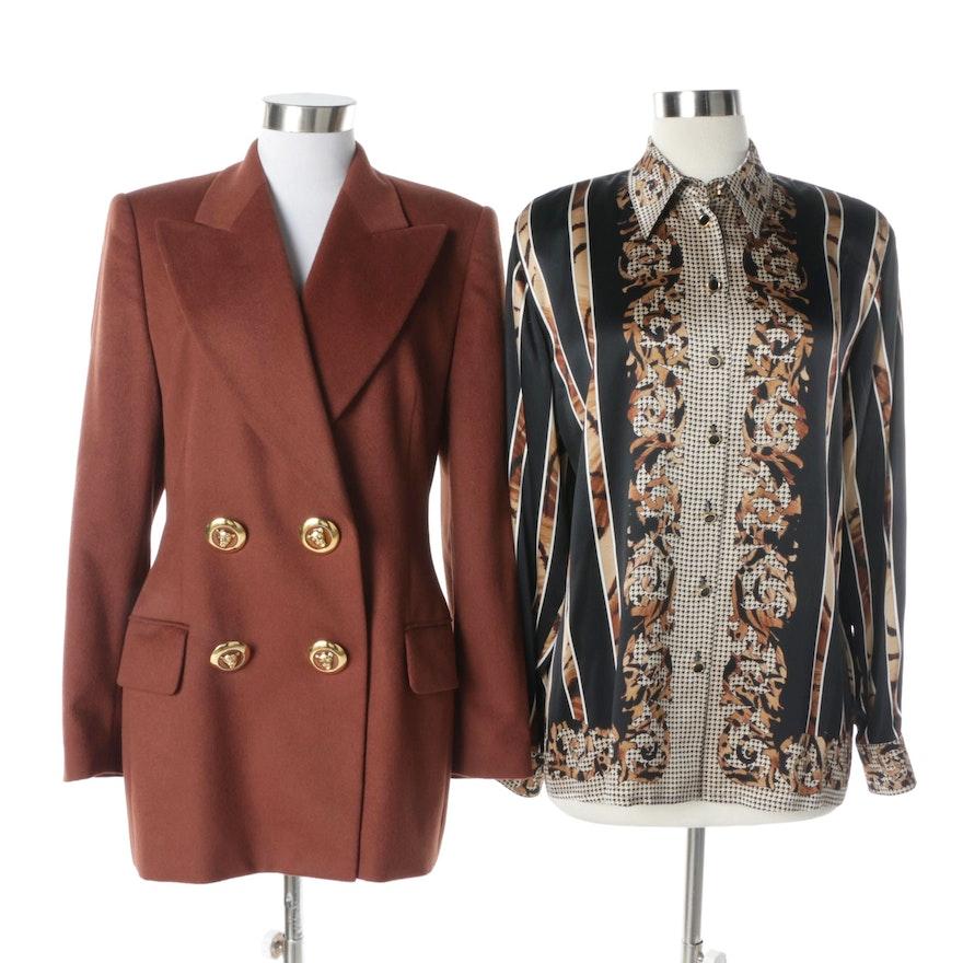 028e10ba385355 Women s Escada by Margaretha Ley Angora Wool and Cashmere Jacket and Silk  Blouse   EBTH