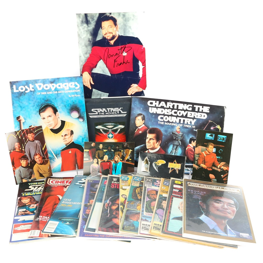 """Star Trek"" Collector's Grouping Including VHS Film Set"