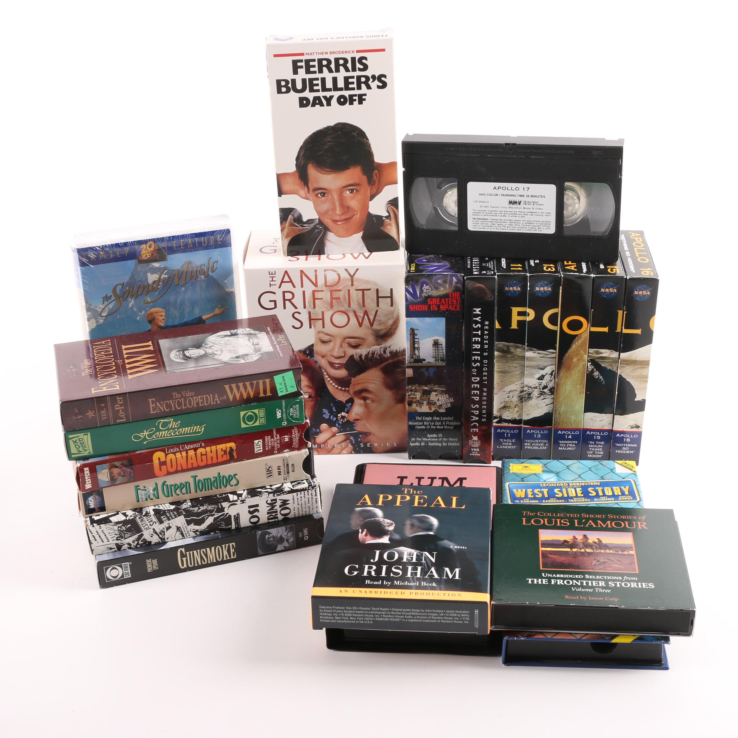 Documentary and Fiction Classics Audio Books and VHS Cassettes
