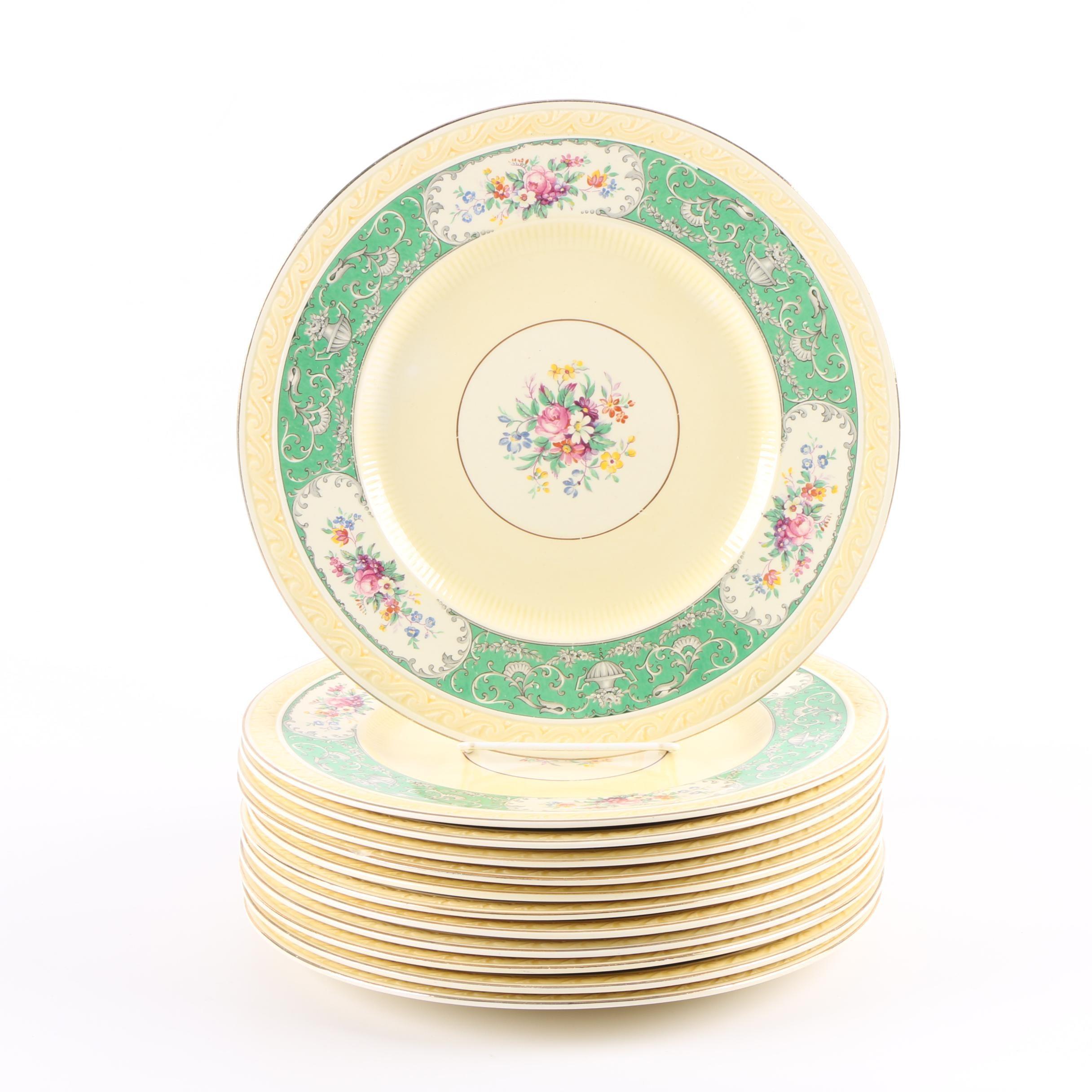 "Antique  J. & G. Meakin ""Monarch"" Ironstone Dinner Plates"